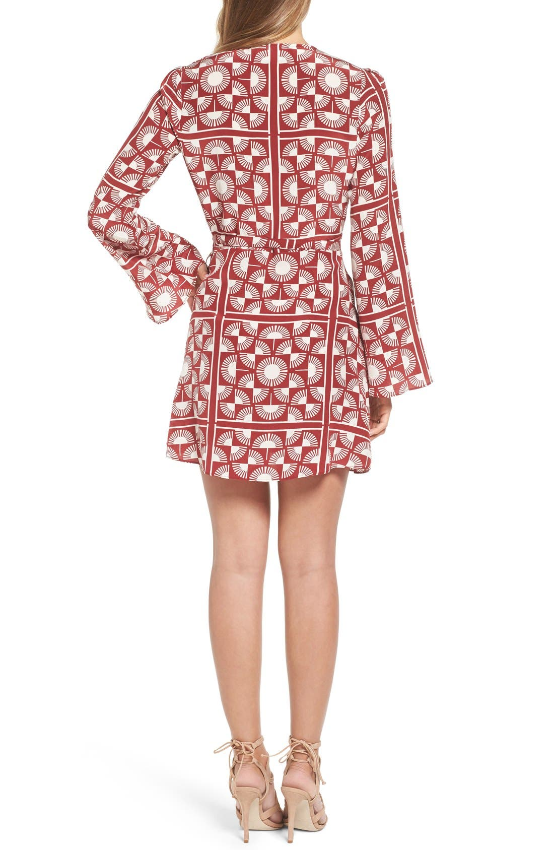 Alternate Image 2  - Stone Cold Fox 'Kai' Silk Wrap Dress