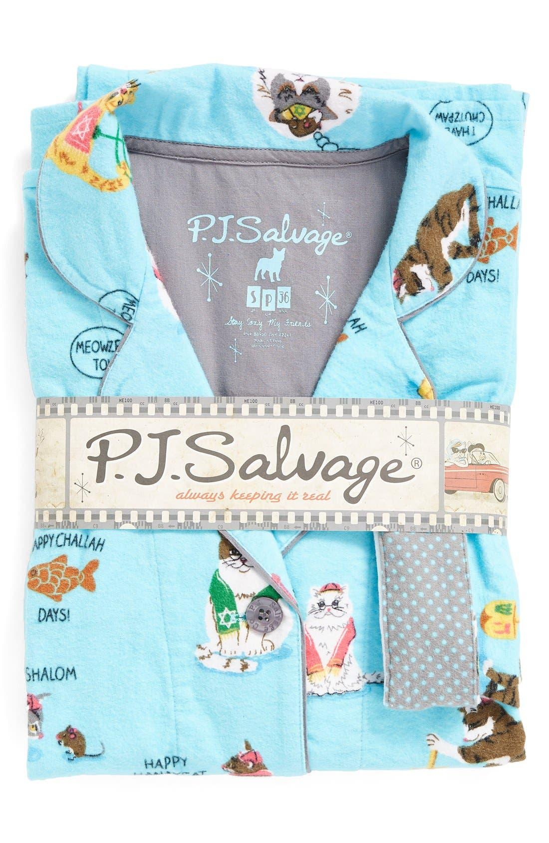 Alternate Image 6  - PJ Salvage Print Flannel Pajamas