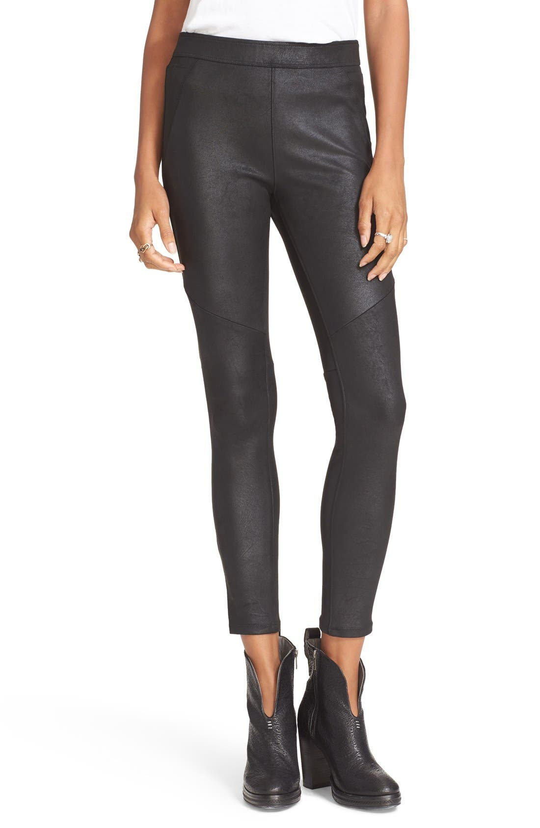 Alternate Image 1 Selected - Free People Never Let Go Faux Leather Pants