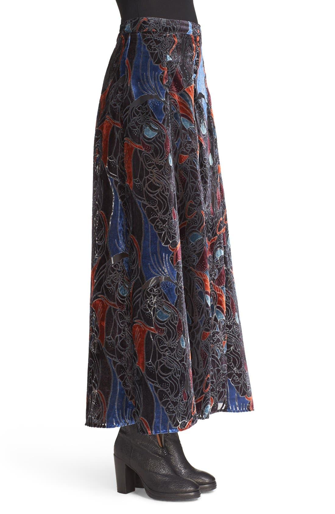 Alternate Image 3  - Free People Velvet Burnout Maxi Skirt