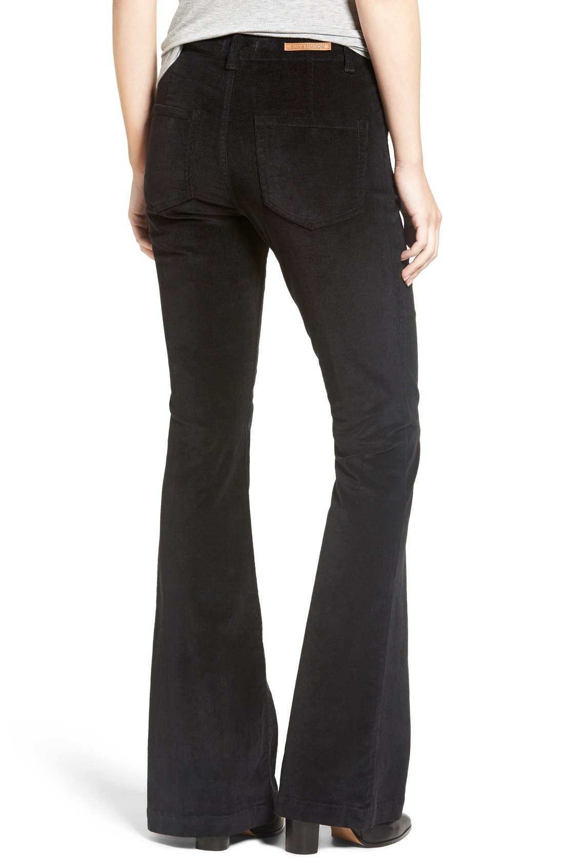 Alternate Image 2  - Sun & Shadow Lace-Up Flare Corduroy Pants