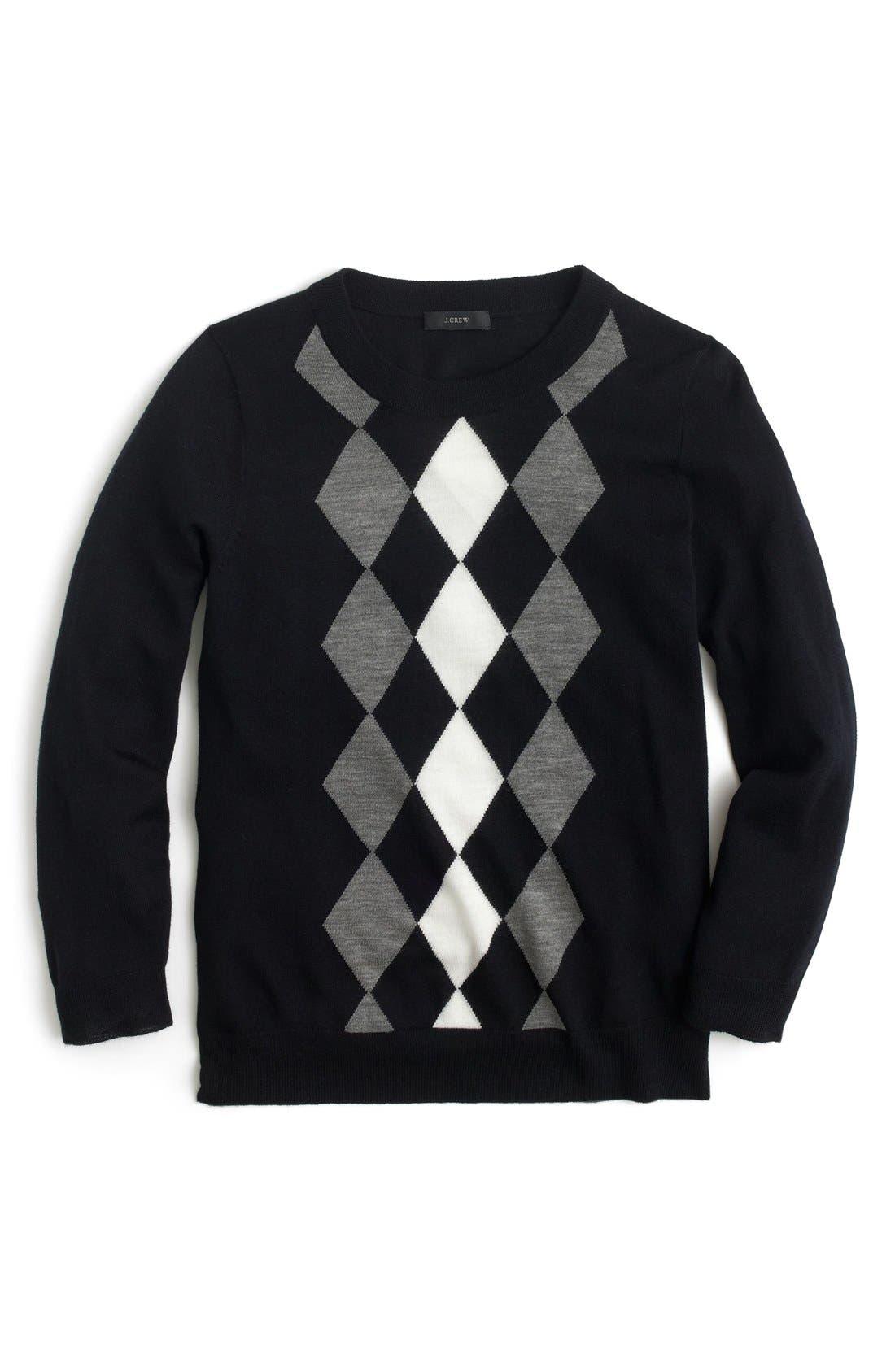 Alternate Image 1 Selected - J.Crew 'Tippi' Argyle Sweater