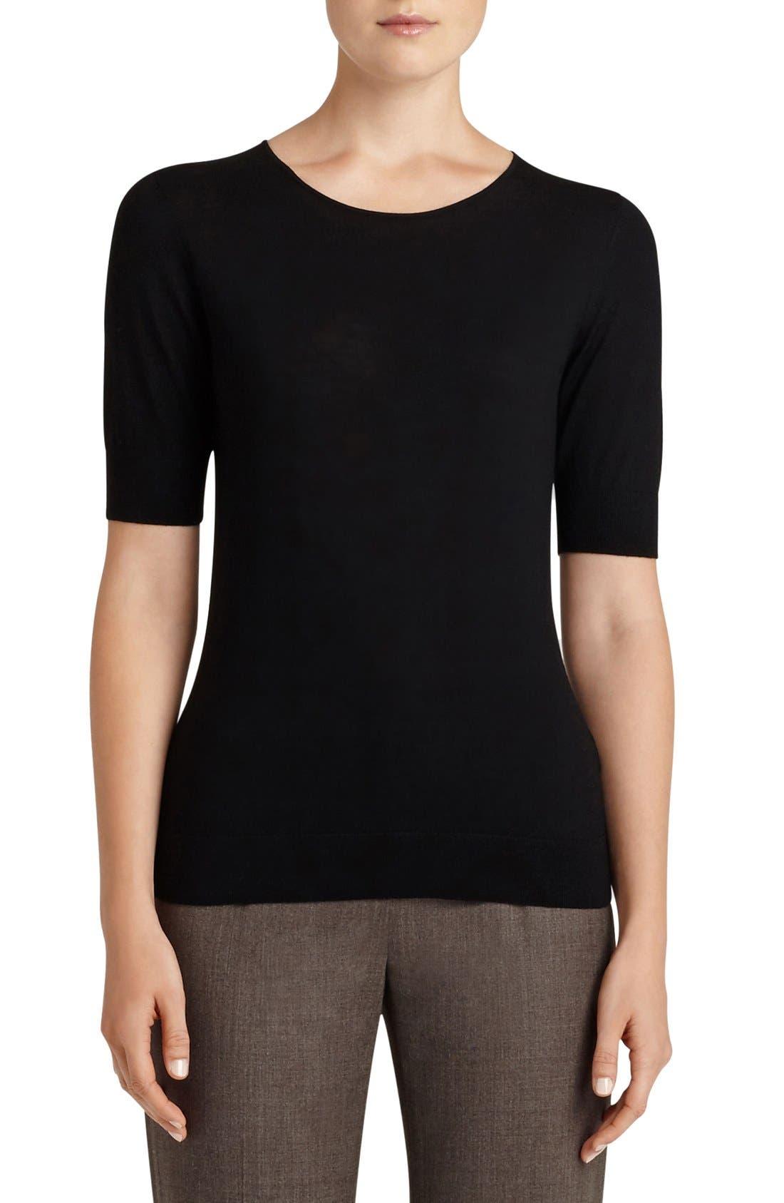 Alternate Image 1 Selected - Lafayette 148 New York Scoop Neck Merino Wool Top