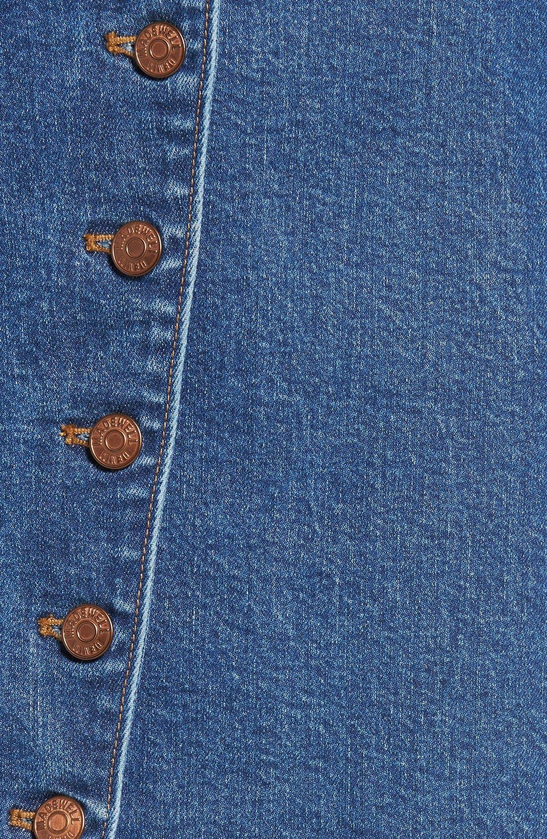 Alternate Image 5  - Madewell Denim Midi Skirt