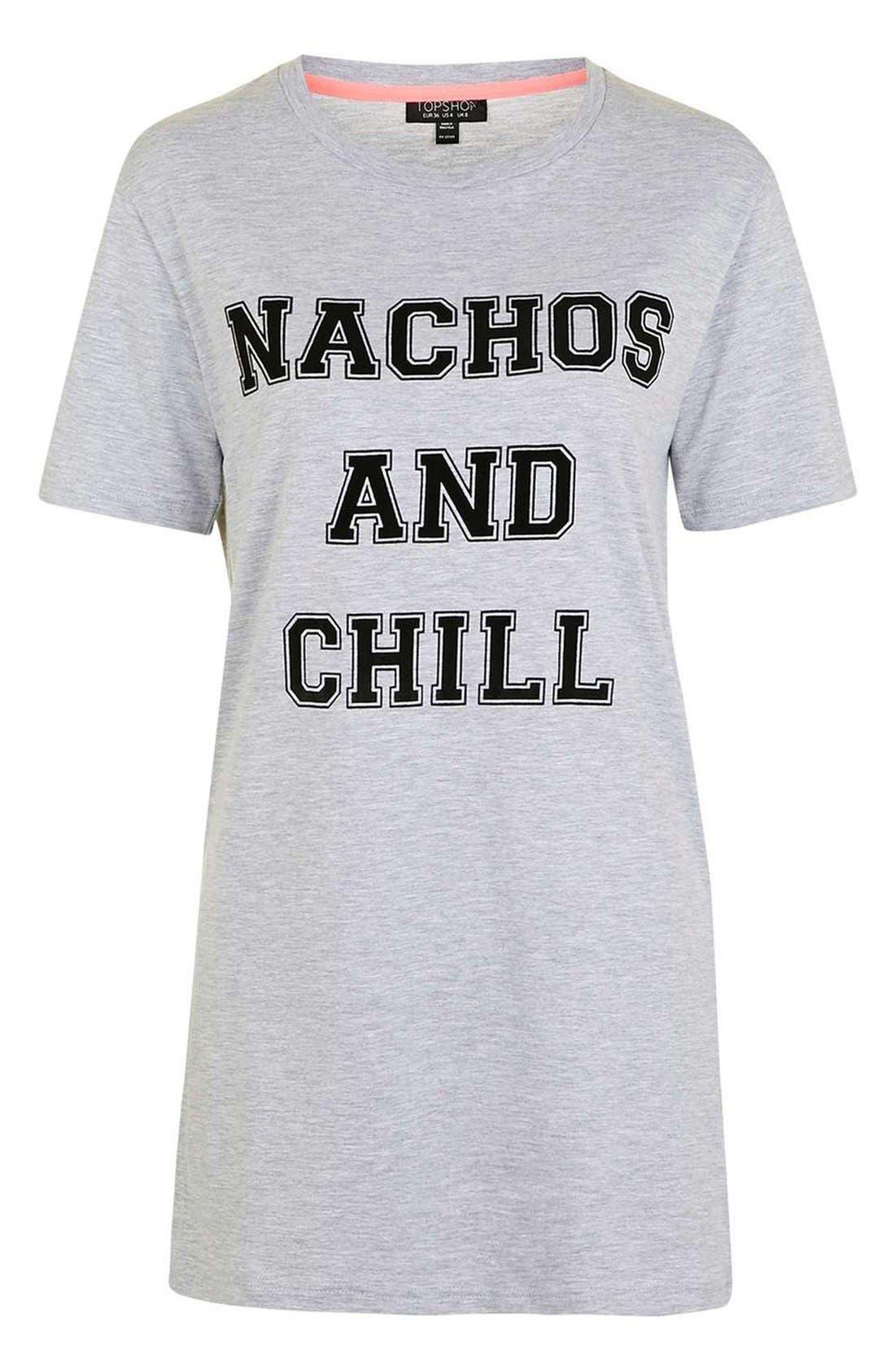 Alternate Image 4  - Topshop Nachos and Chill Sleep Shirt