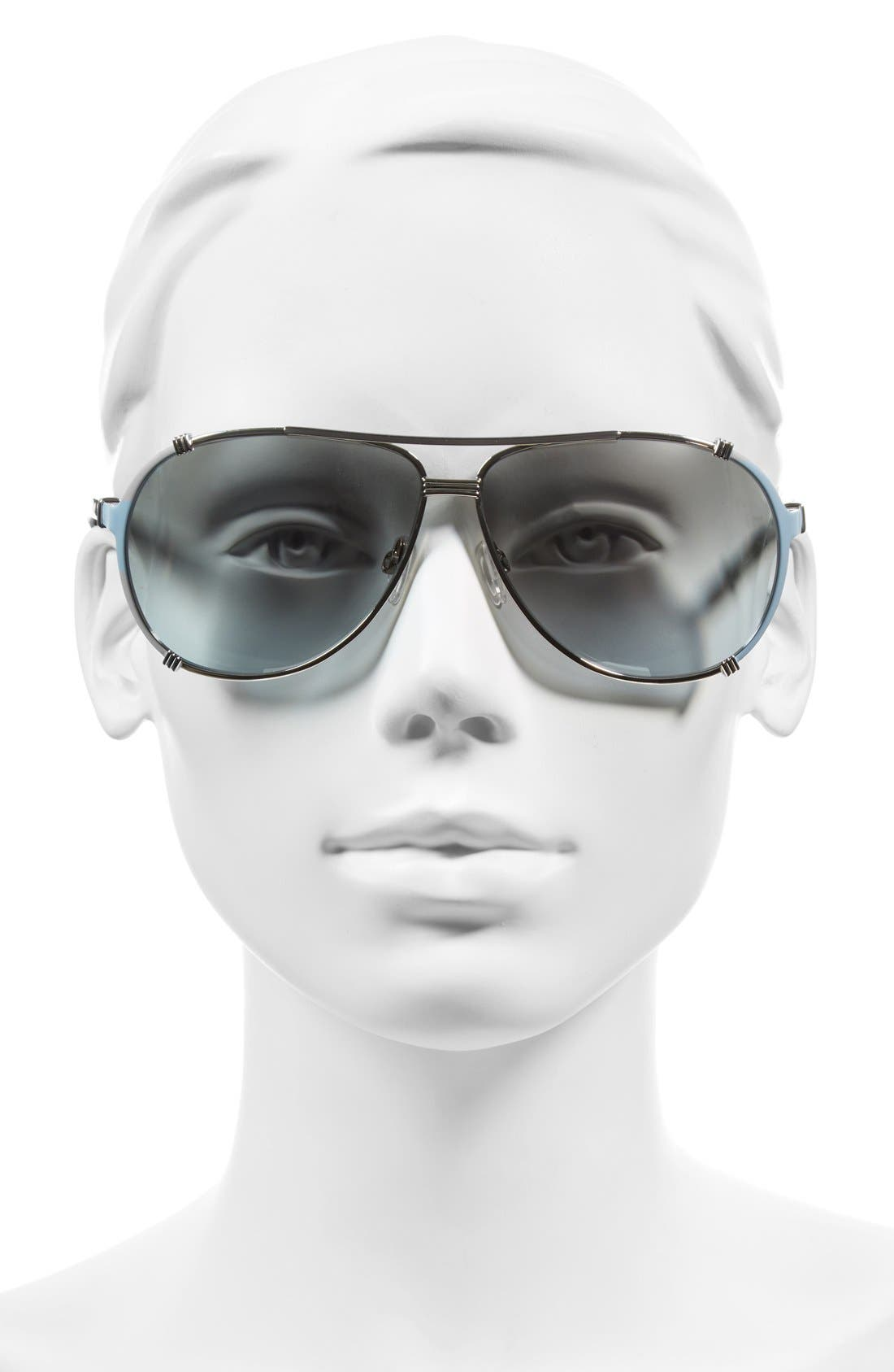 Alternate Image 2  - Dior 'Chicago' 63mm Metal Aviator Sunglasses
