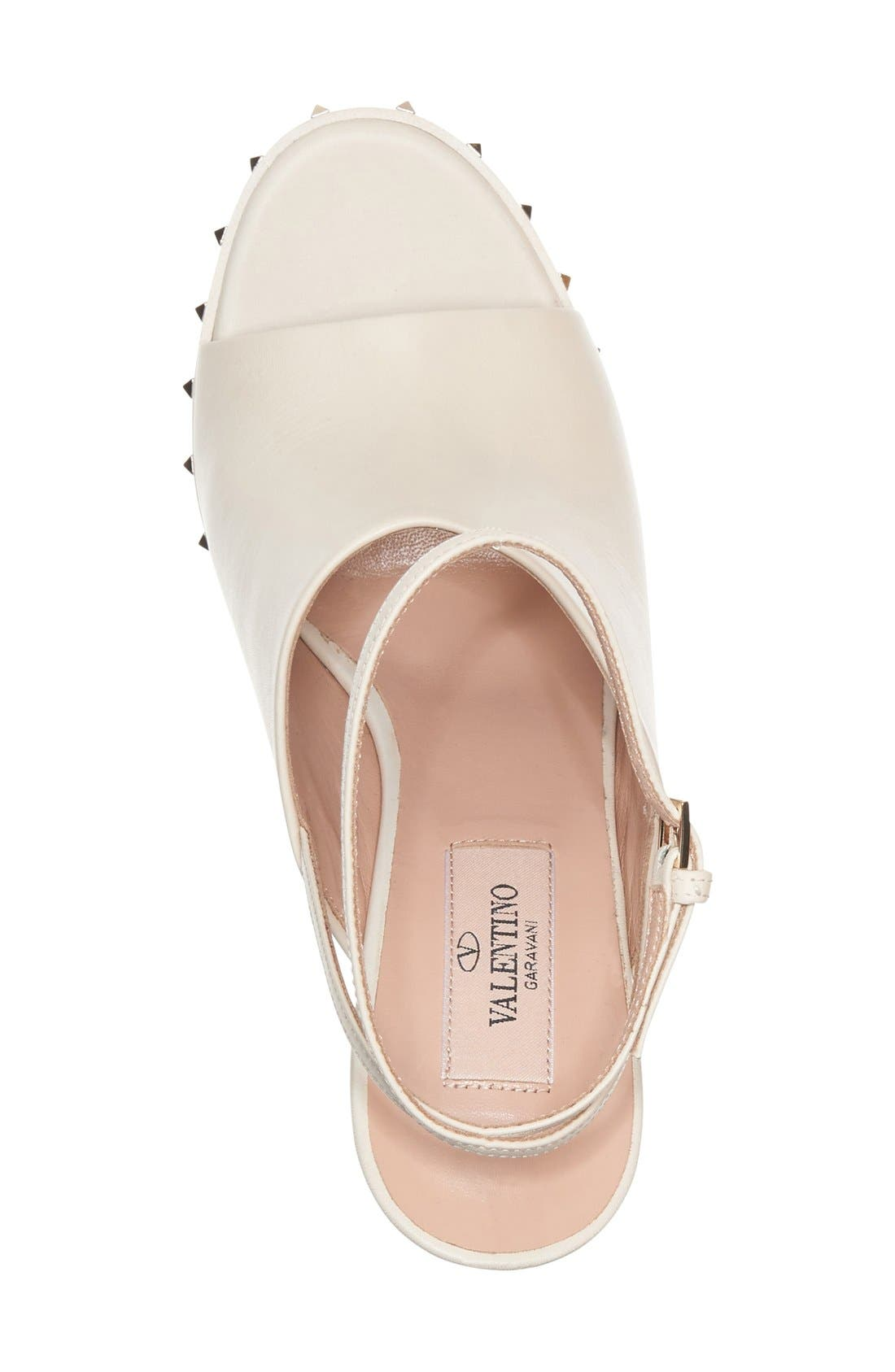 Alternate Image 3  - Valentino 'Soul Stud' Peep Toe Sandal (Women)
