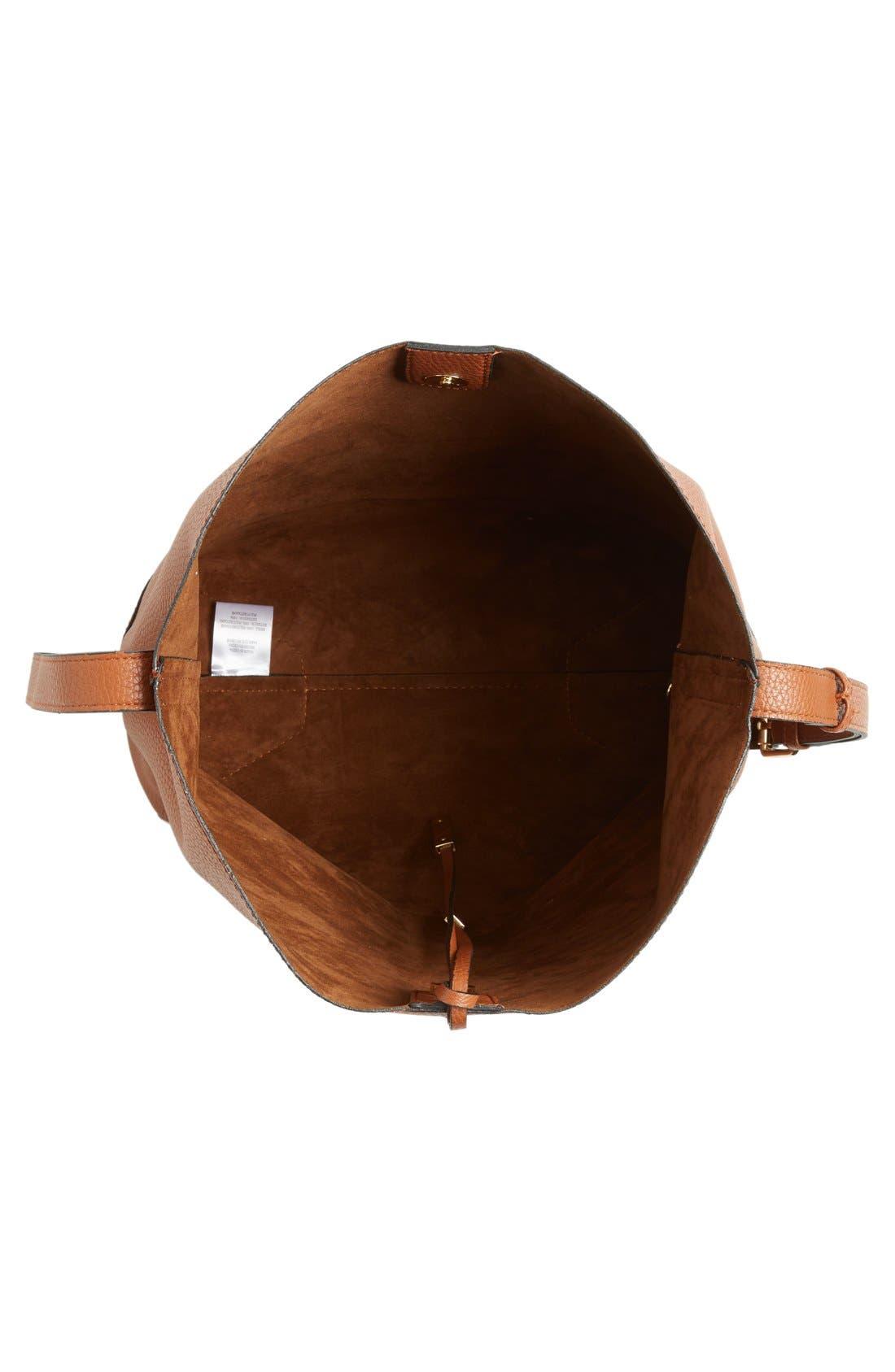 Alternate Image 4  - Street Level Faux Leather Bucket Bag