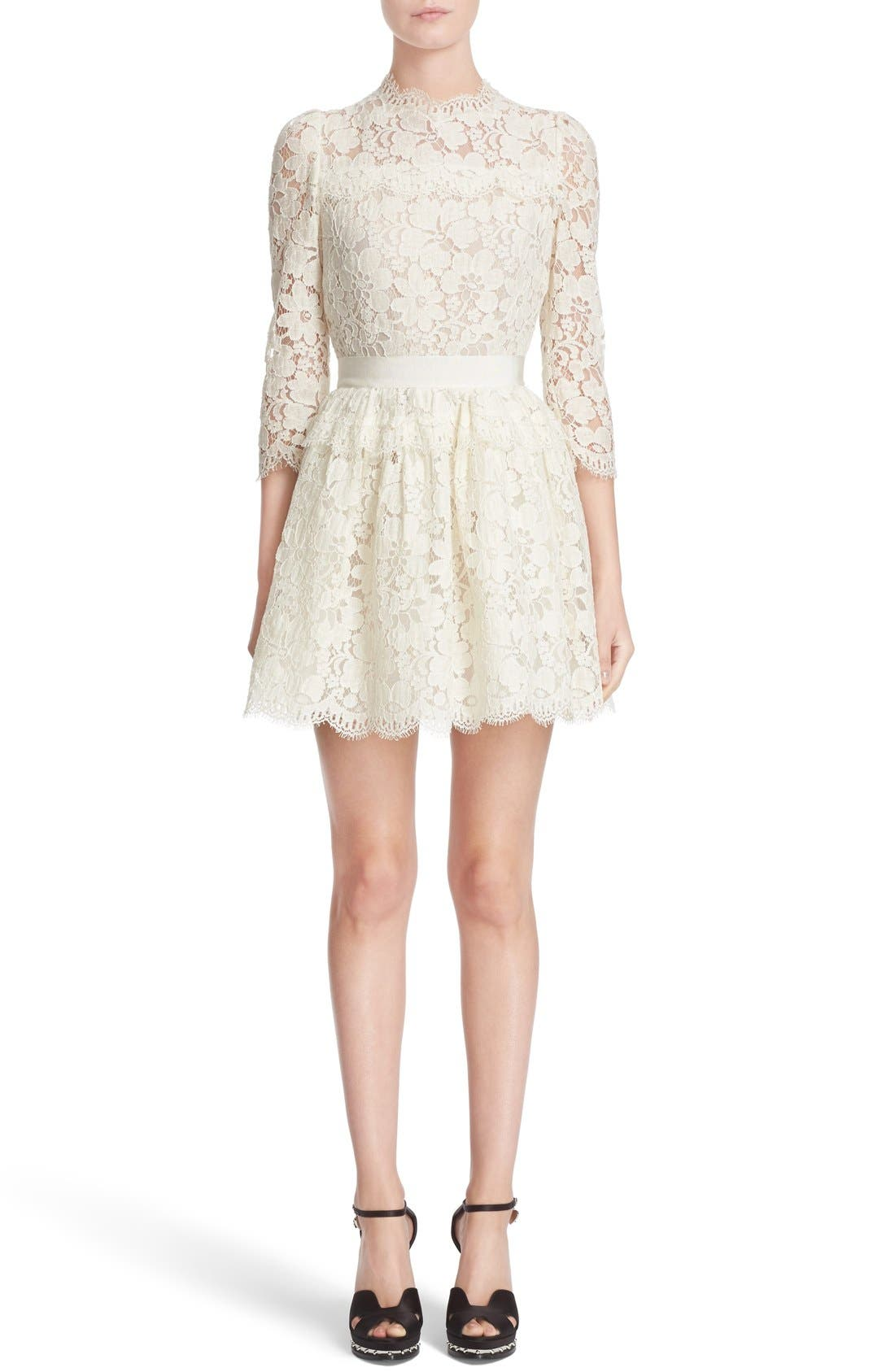 Alternate Image 1 Selected - Alexander McQueen Floral Lace Dress