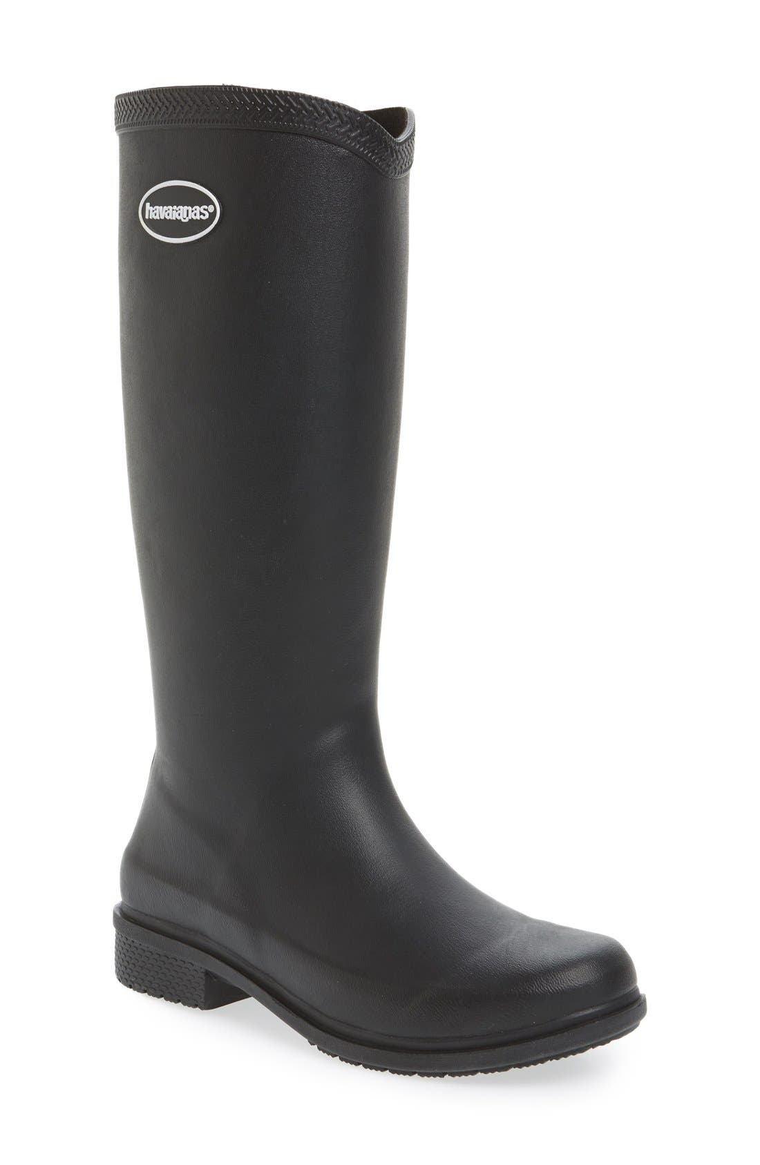 Havaianas 'Galochas Hi Matte' Waterproof Rain Boot (Women) (Wide Calf)