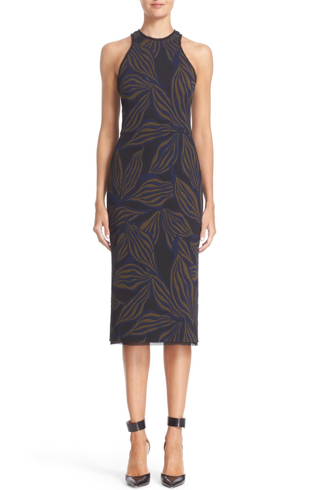 JASON WU Floral Jacquard Sheath Dress