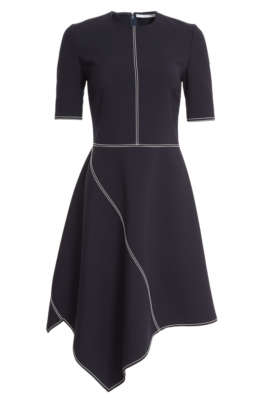 Alternate Image 4  - Stella McCartney Topstitch Asymmetrical Dress