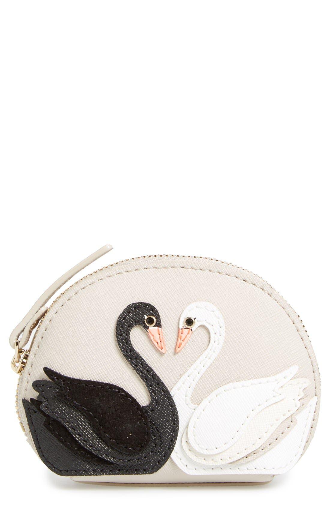 Alternate Image 1 Selected - kate spade new york 'on pointe - swan dumpling' coin purse