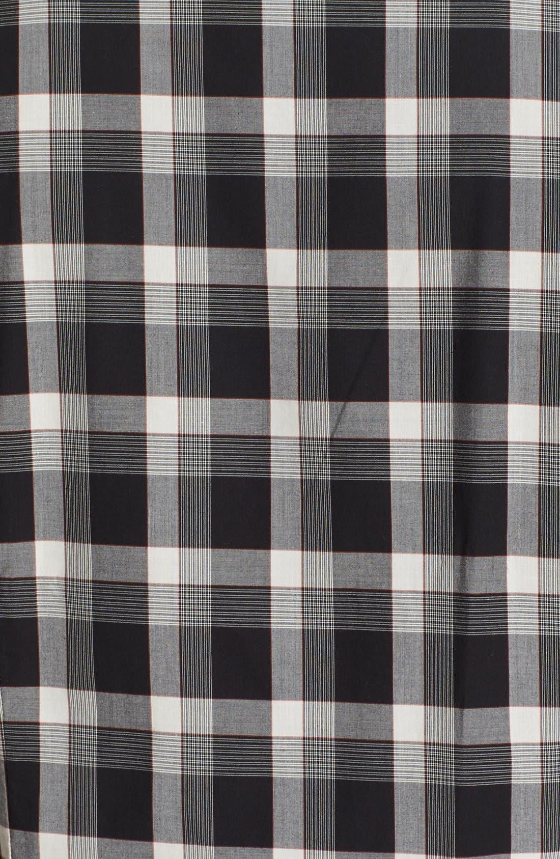 Alternate Image 2  - John Varvatos Collection Slim Fit Plaid Military Shirt