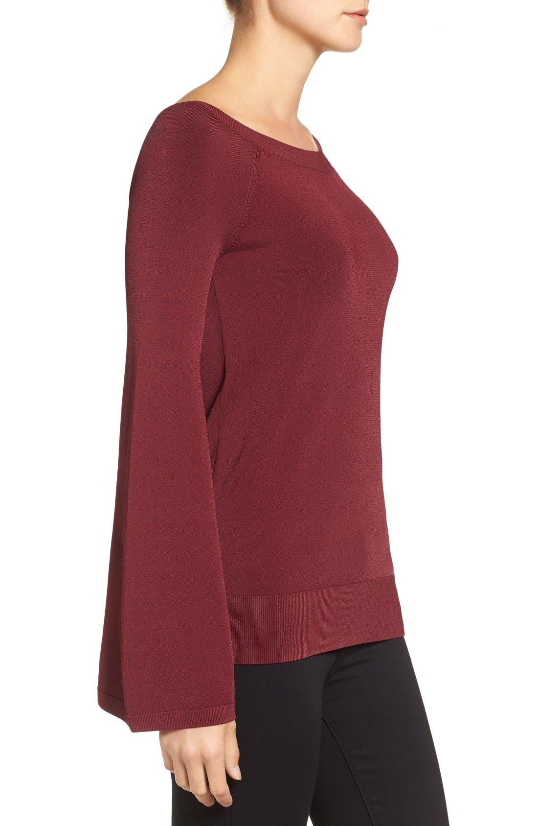 Alternate Image 4  - Chelsea28 Flare Sleeve Sweater