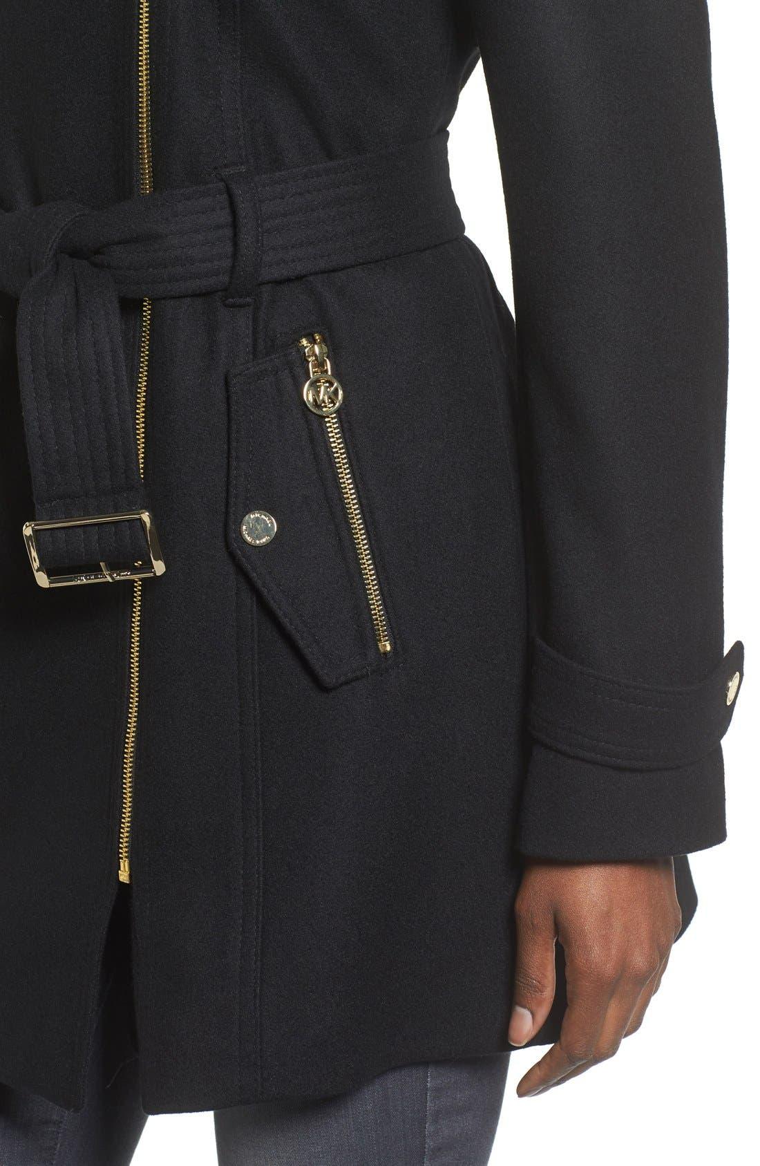 Alternate Image 4  - MICHAEL Michael Kors Belted Asymmetrical Wool Blend Coat