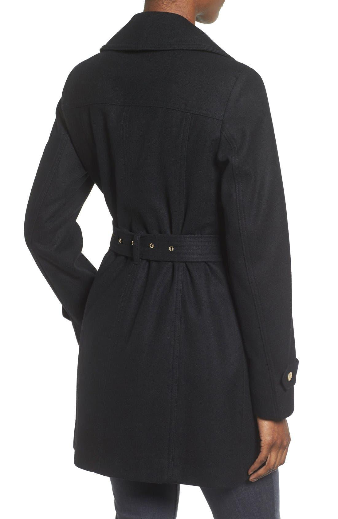 Alternate Image 2  - MICHAEL Michael Kors Belted Asymmetrical Wool Blend Coat