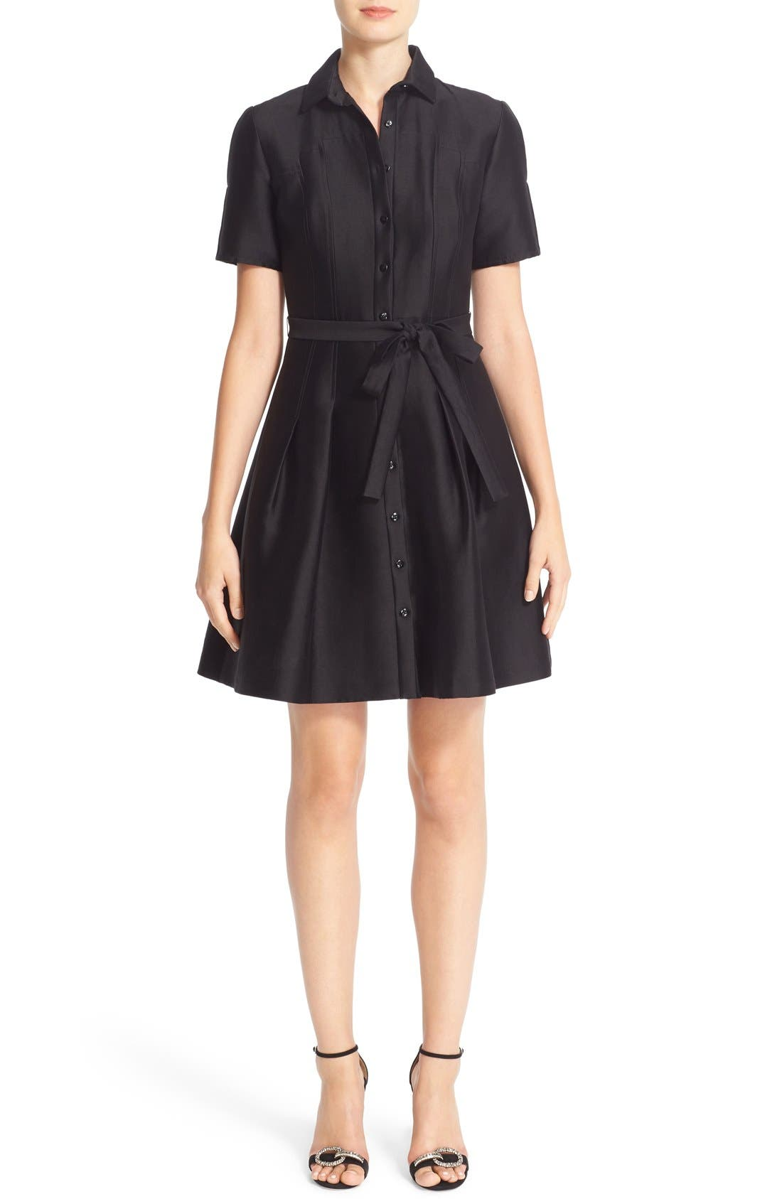CAROLINA HERRERA Belted Silk Shirtdress