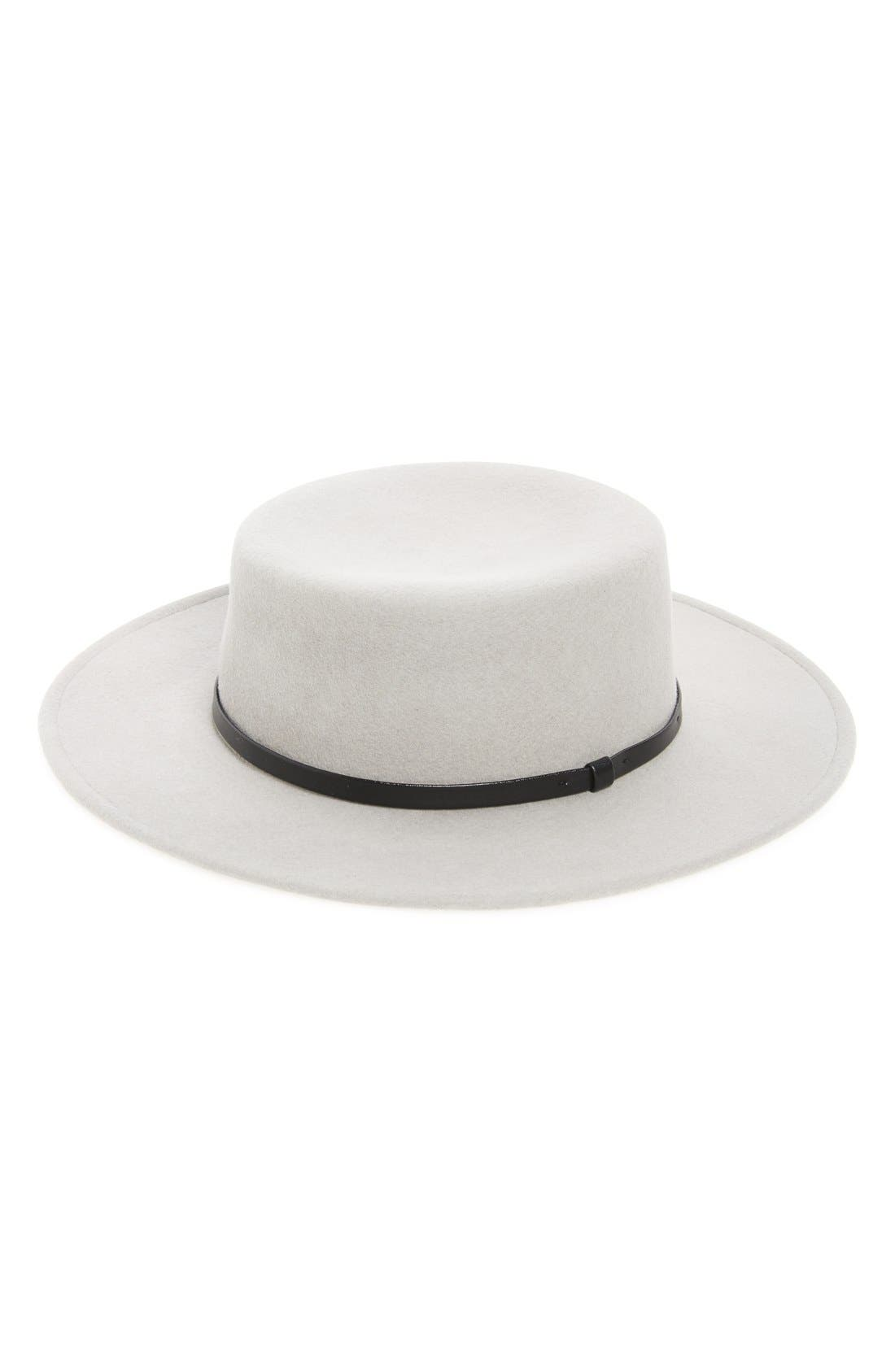 Alternate Image 1 Selected - Sole Society Wool Boater Hat