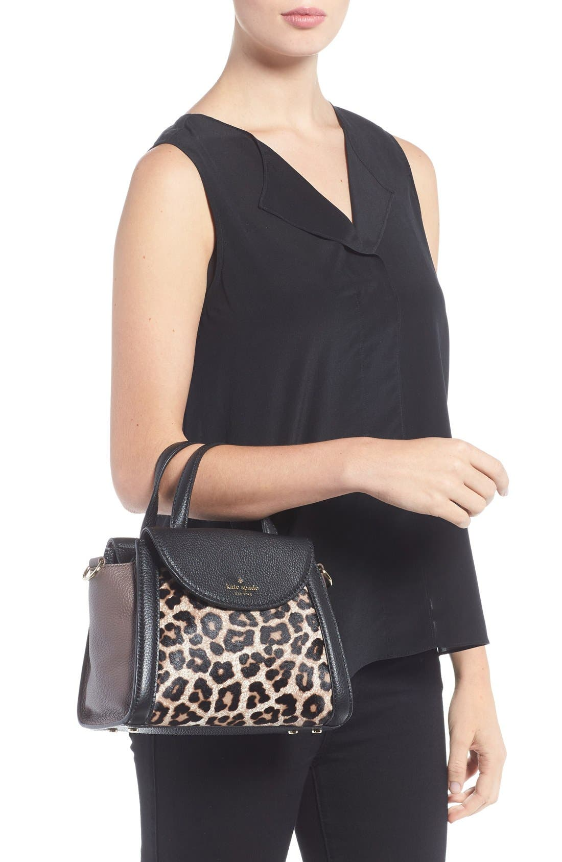 Alternate Image 2  - kate spade new york 'cobble hill - small adrien' genuine calf hair satchel