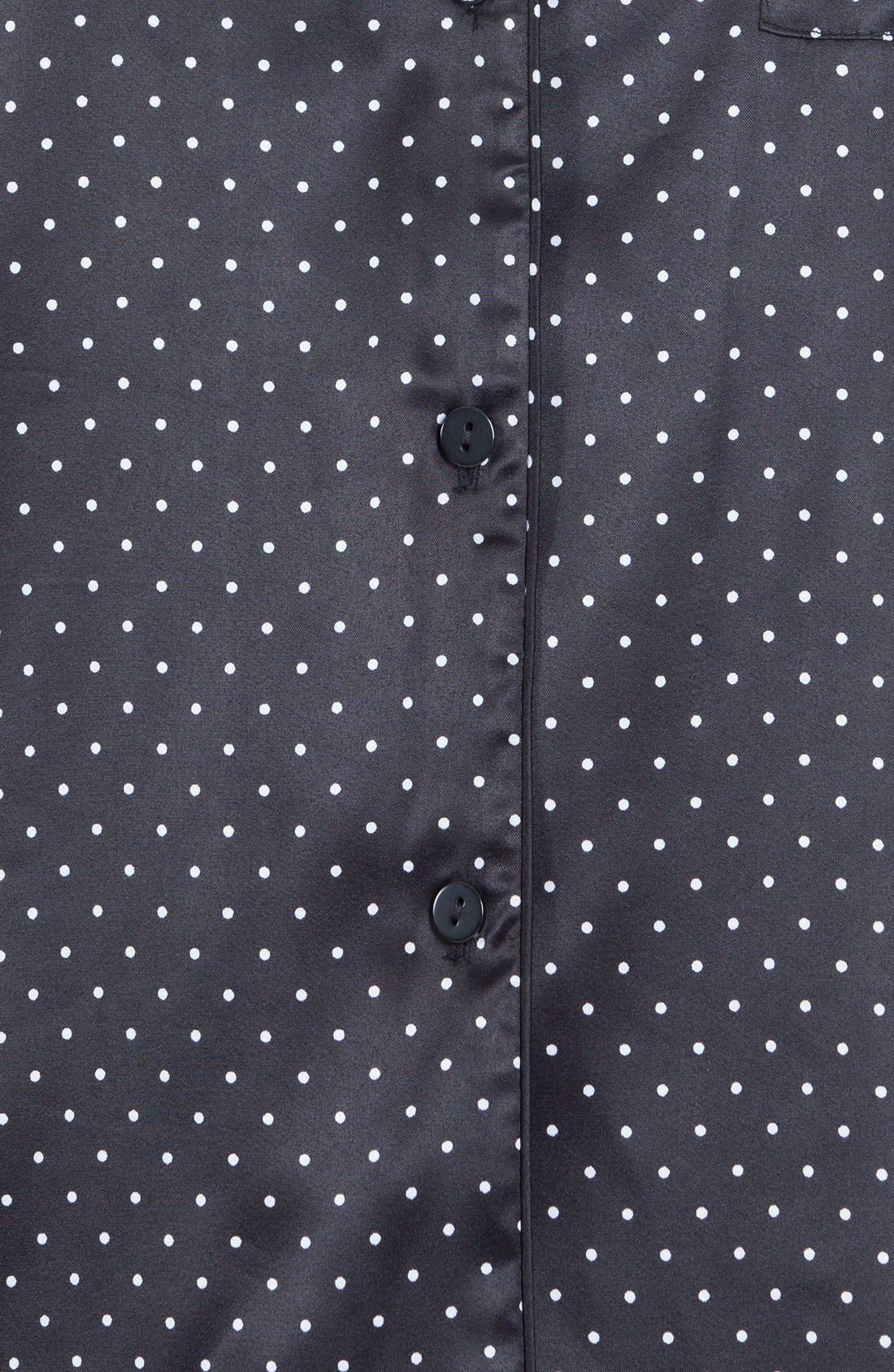 Alternate Image 5  - In Bloom by Jonquil Print Satin Pajamas
