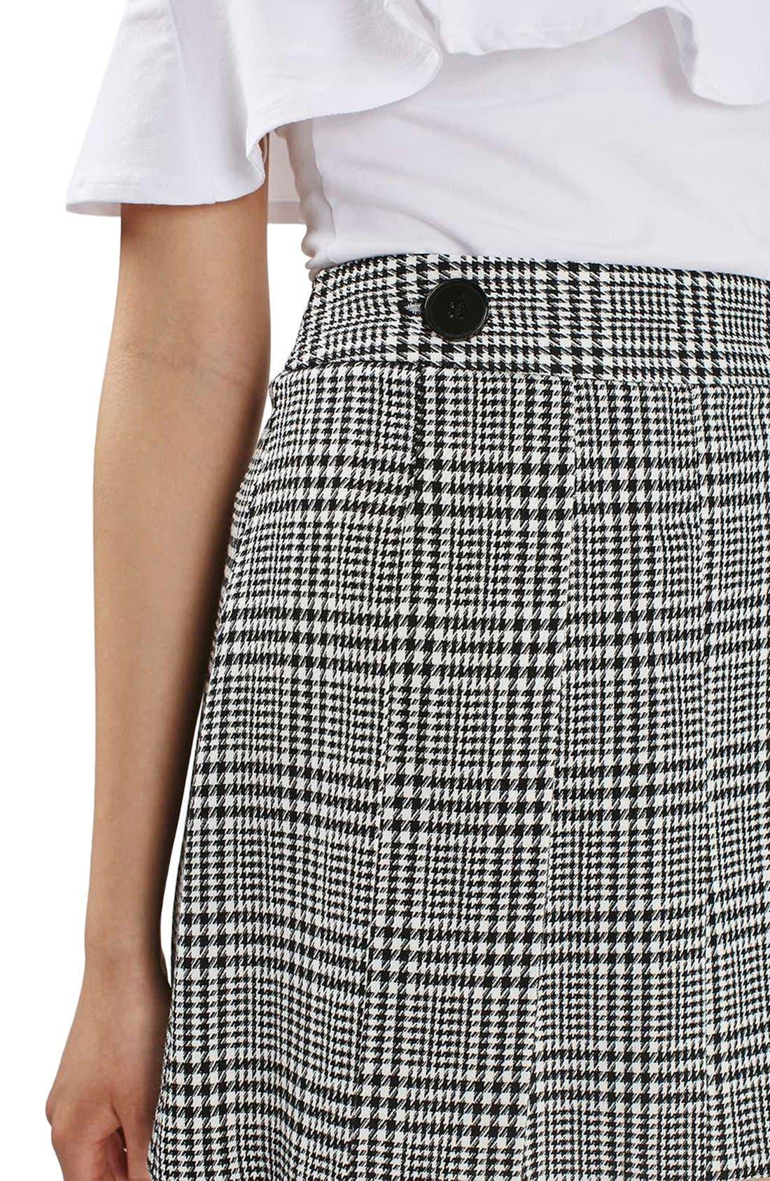 Alternate Image 5  - Topshop Houndstooth Miniskirt