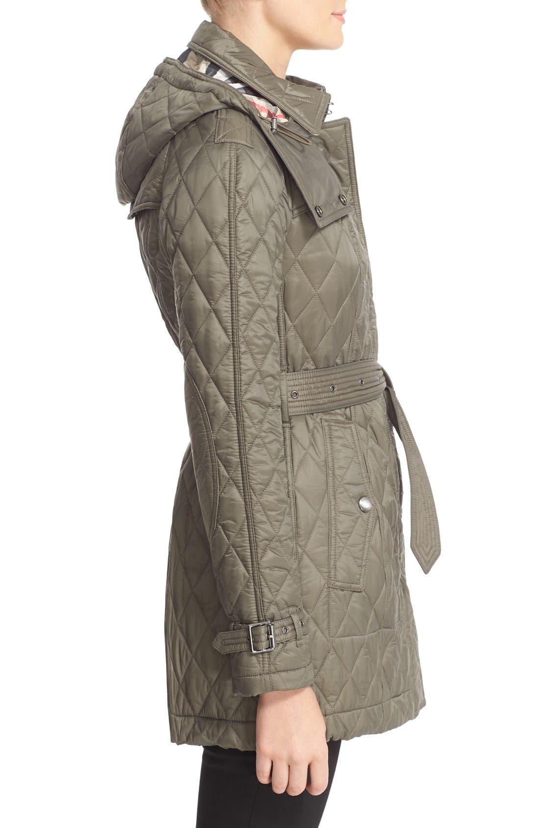 Alternate Image 5  - Burberry Finsbridge Belted Quilted Jacket