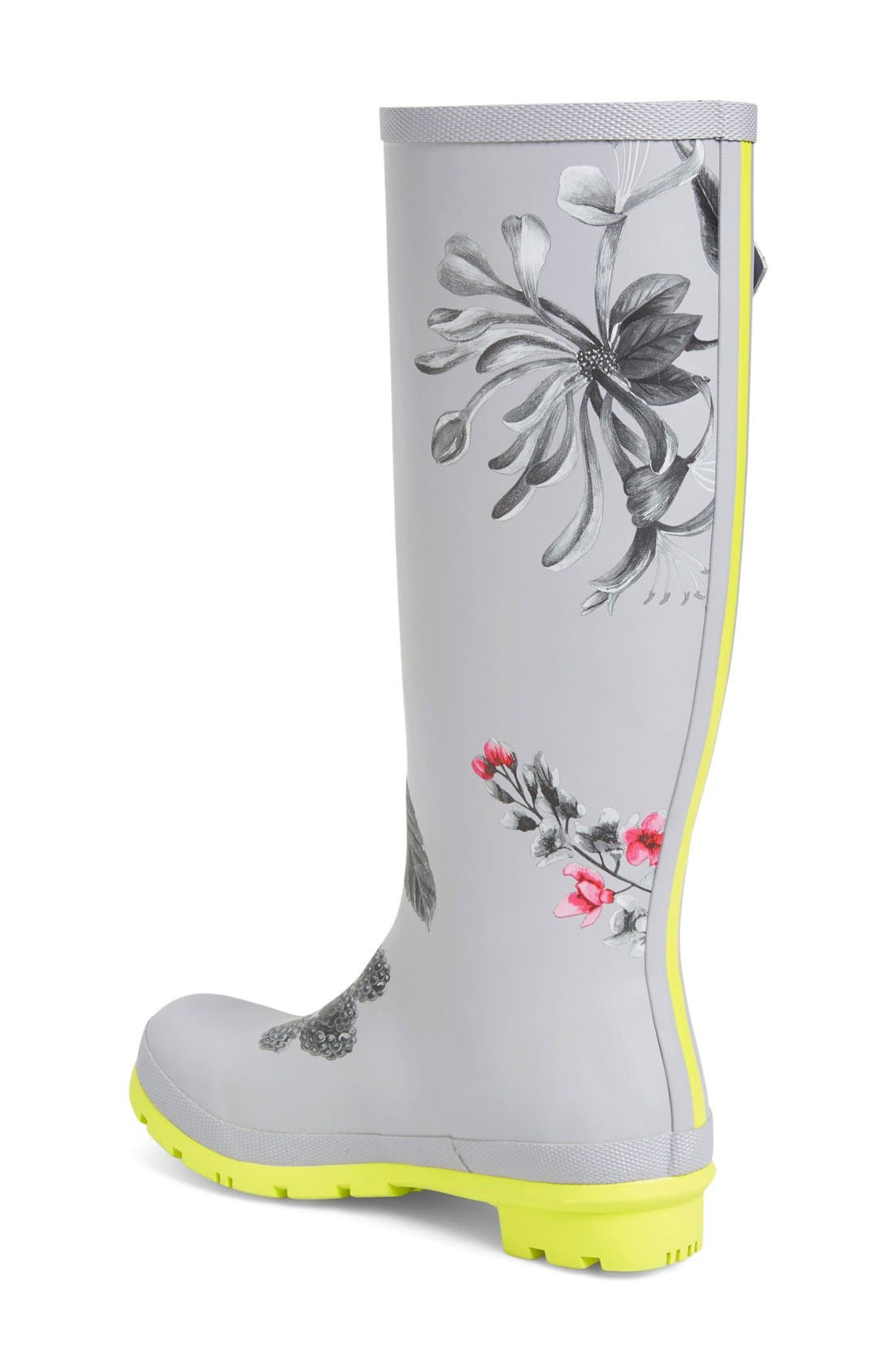 Alternate Image 2  - Joules 'Welly'PrintRain Boot (Women)
