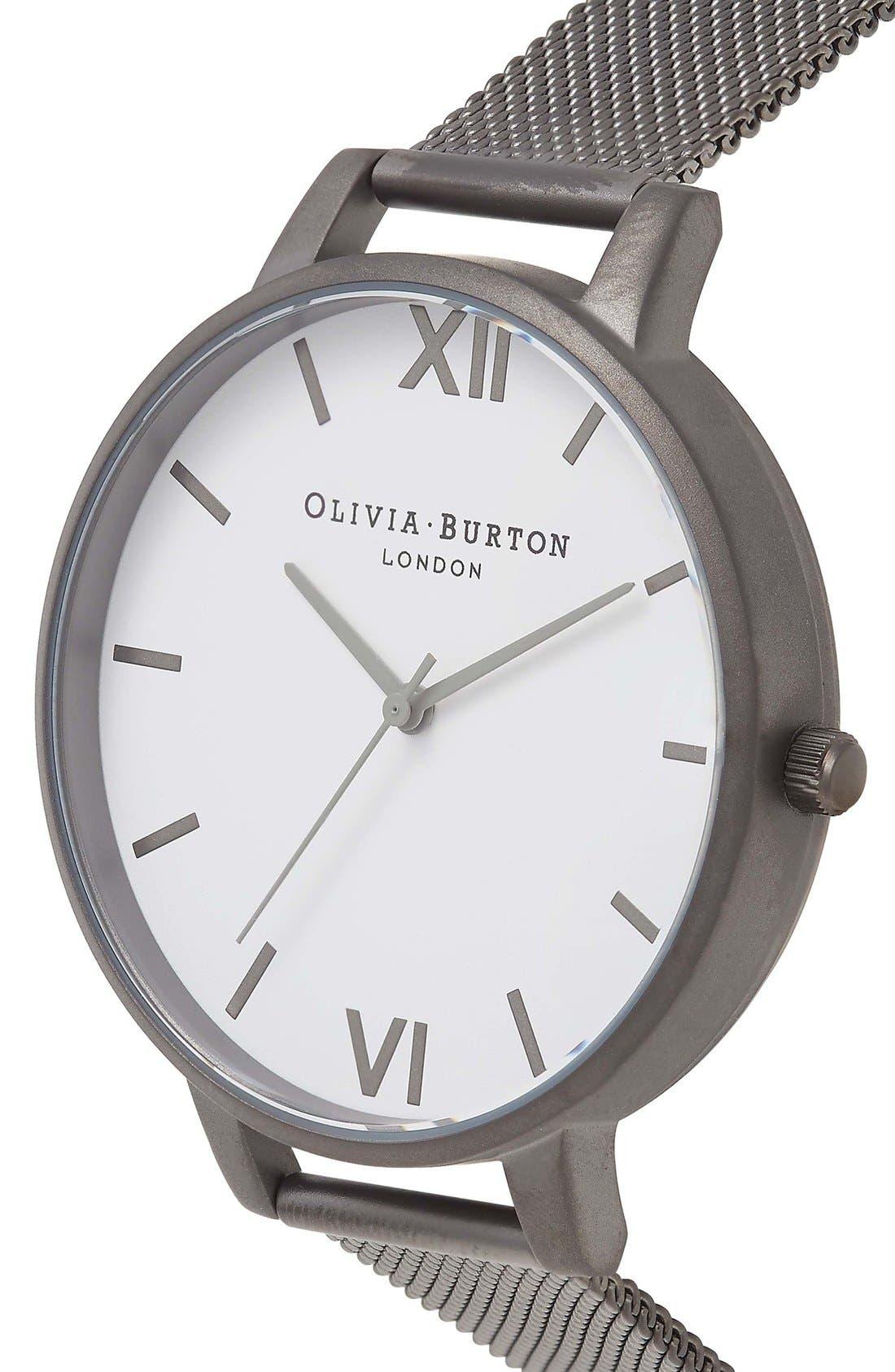 Alternate Image 3  - Olivia Burton 'Big Dial' Mesh Strap Watch, 38mm