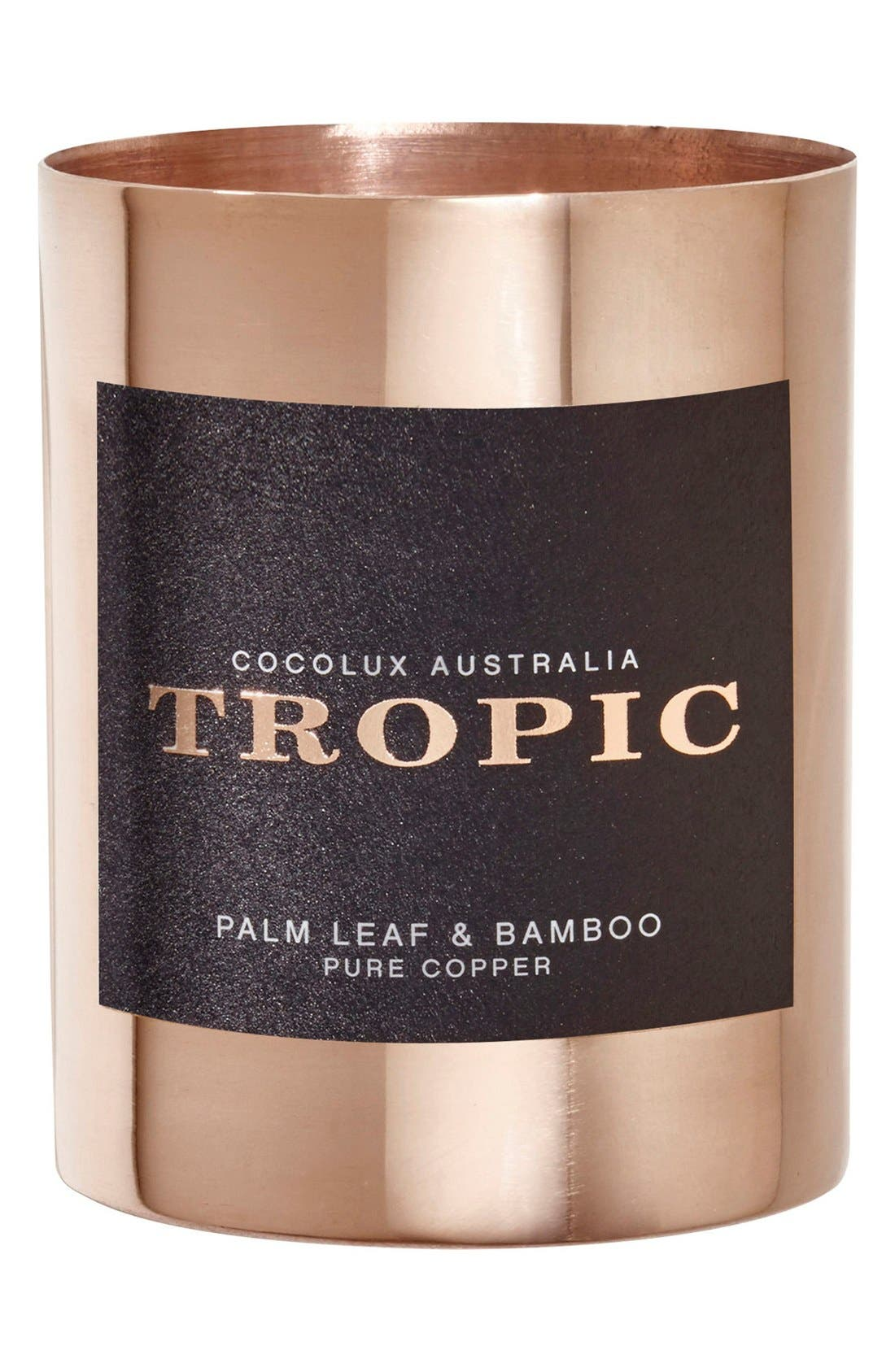 Cocolux Australia Palm Leaf & Bamboo Small Copper Candle
