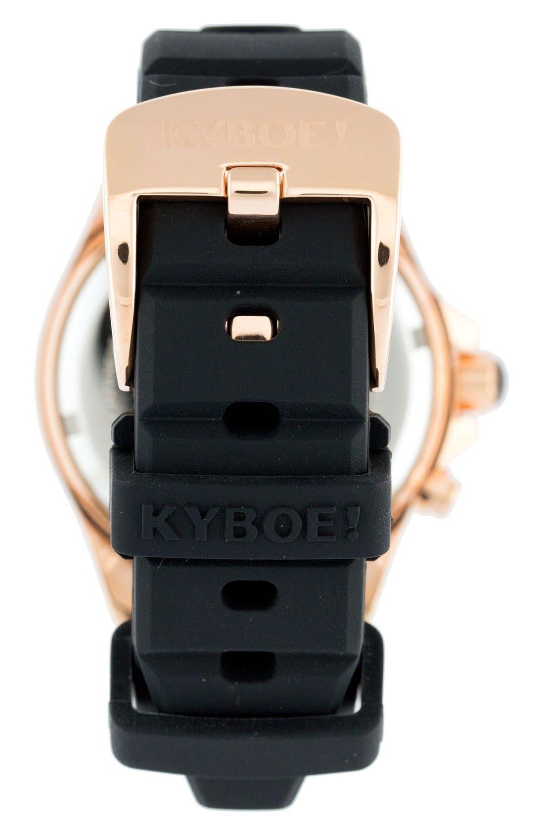 Alternate Image 2  - KYBOE! Power Silicone Strap Watch, 40mm