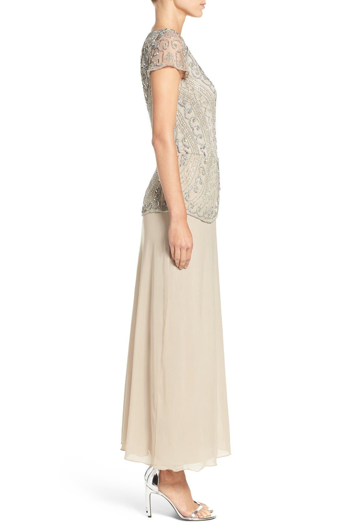 Alternate Image 3  - Pisarro Nights Embellished Mesh Gown (Regular & Petite)