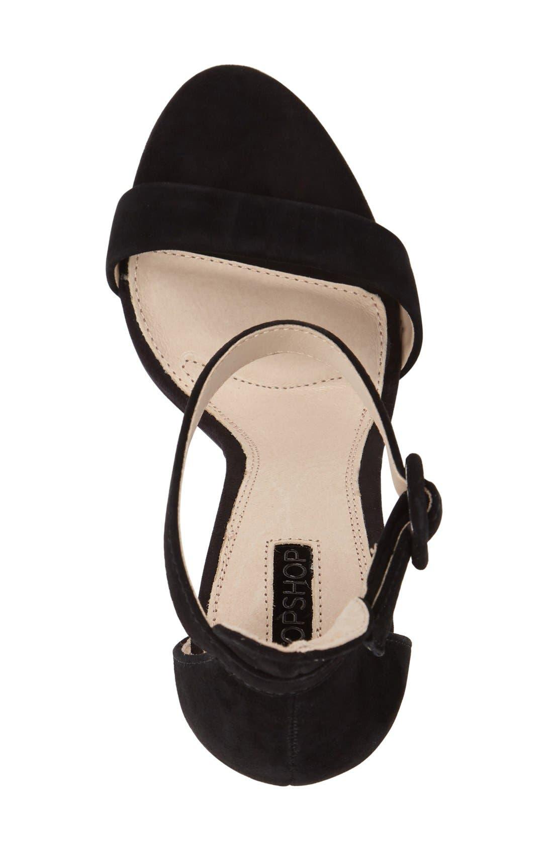 Alternate Image 3  - Topshop 'Rita' Ankle Strap Sandal (Women)
