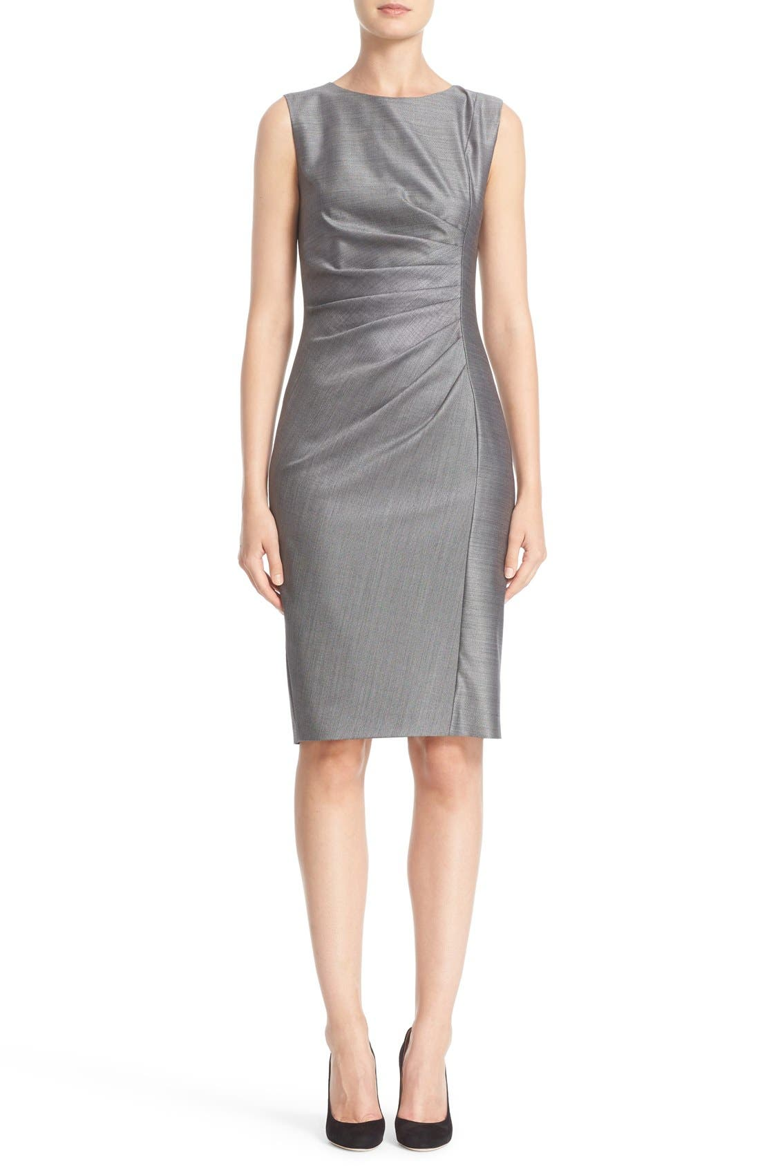 MAX MARA Canter Ruched Stretch Wool & Silk