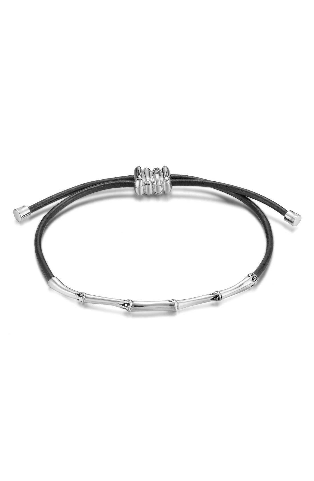 Alternate Image 1 Selected - John Hardy 'Bamboo Themed' Slim Cord Bracelet
