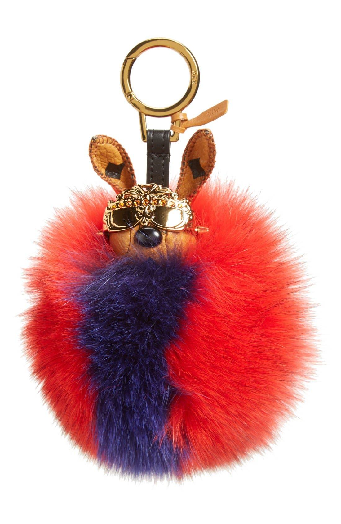 Alternate Image 1 Selected - MCM 'Rabbit' Genuine Fox Fur Bag Charm