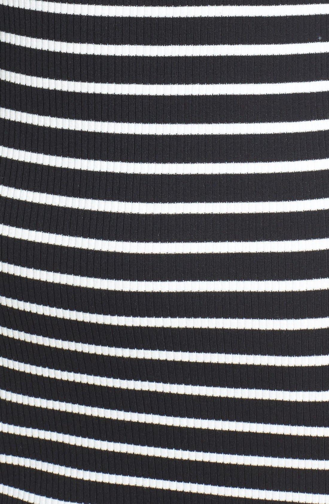 Alternate Image 5  - Cream and Sugar Stripe Off the Shoulder Body-Con Dress