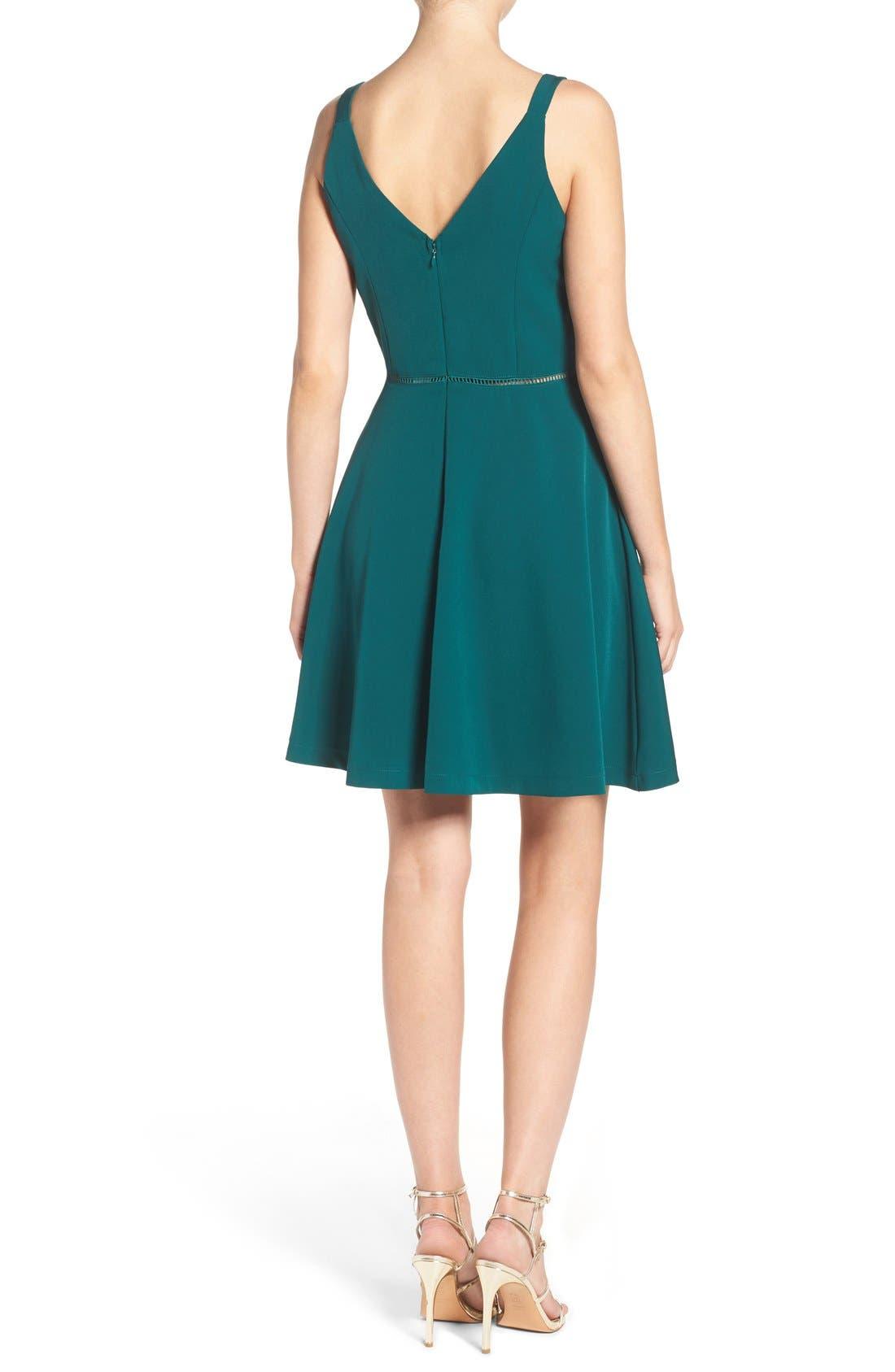 Alternate Image 2  - Adelyn Rae Fit & Flare Dress