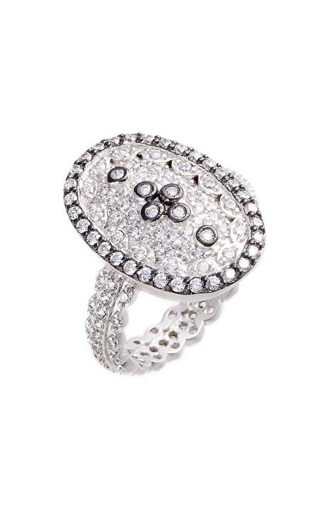 FREIDA ROTHMAN Pavé Cubic Zirconia Clover Ring