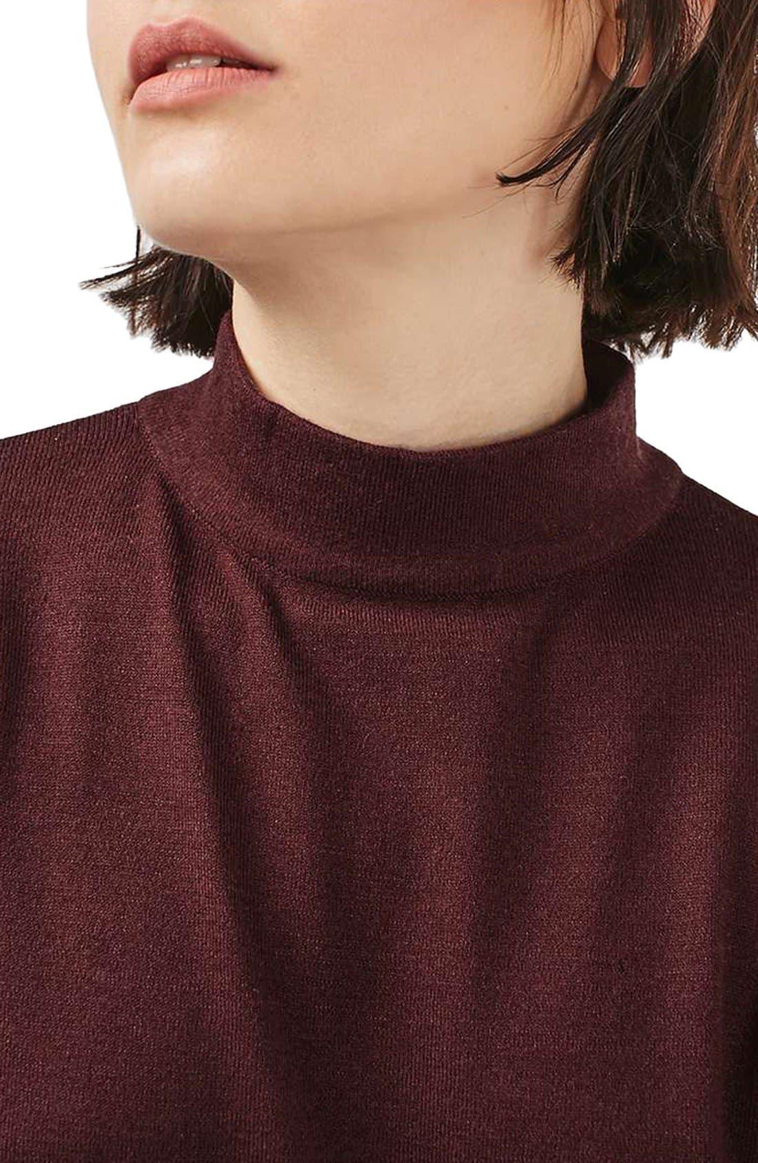Alternate Image 5  - Topshop Blouson Sleeve Mock Neck Sweater
