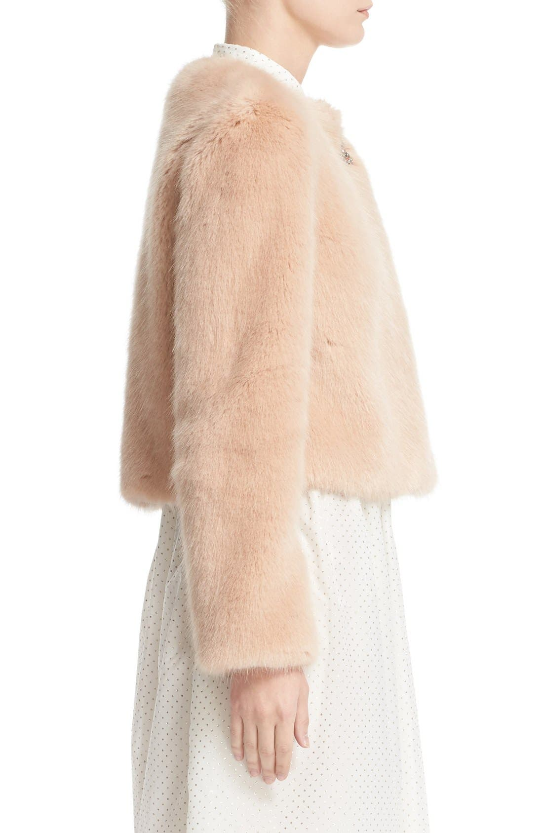 Alternate Image 5  - Shrimps Muffin Faux Fur Jacket
