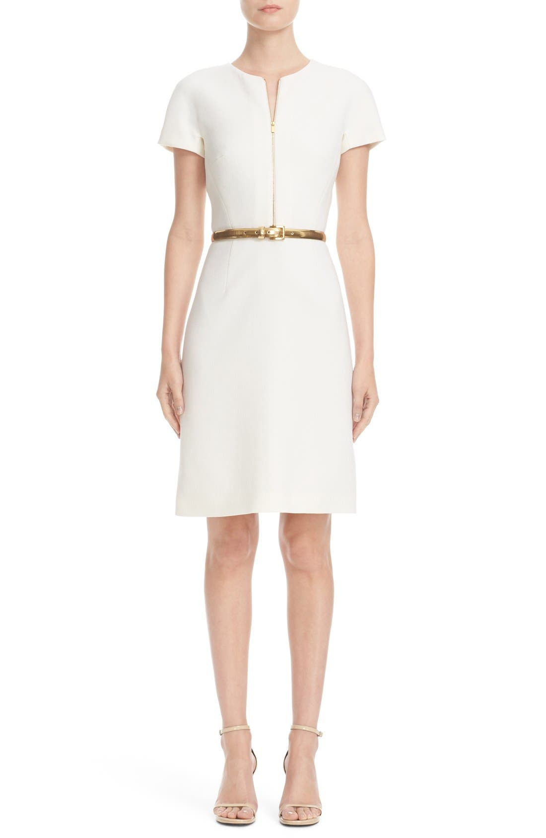 Alternate Image 1 Selected - Michael Kors Stretch Wool Crepe Dress