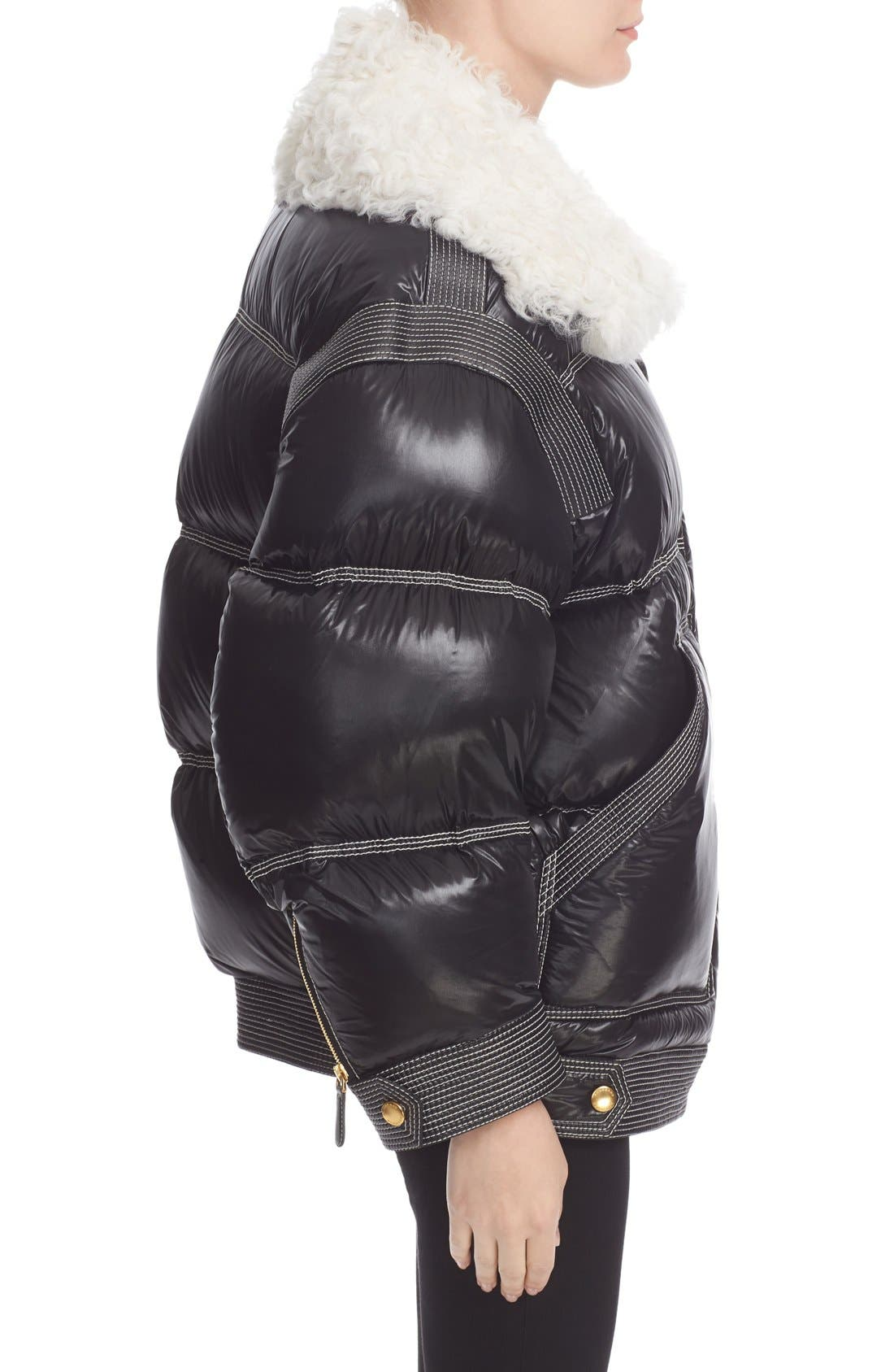 Alternate Image 6  - Burberry Puffer Coat with Removable Genuine Shearling Collar