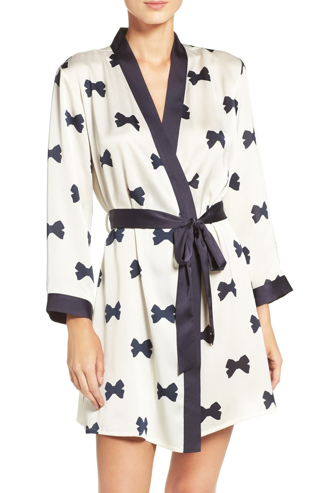 Alternate Image 1 Selected - kate spade new york bow print robe