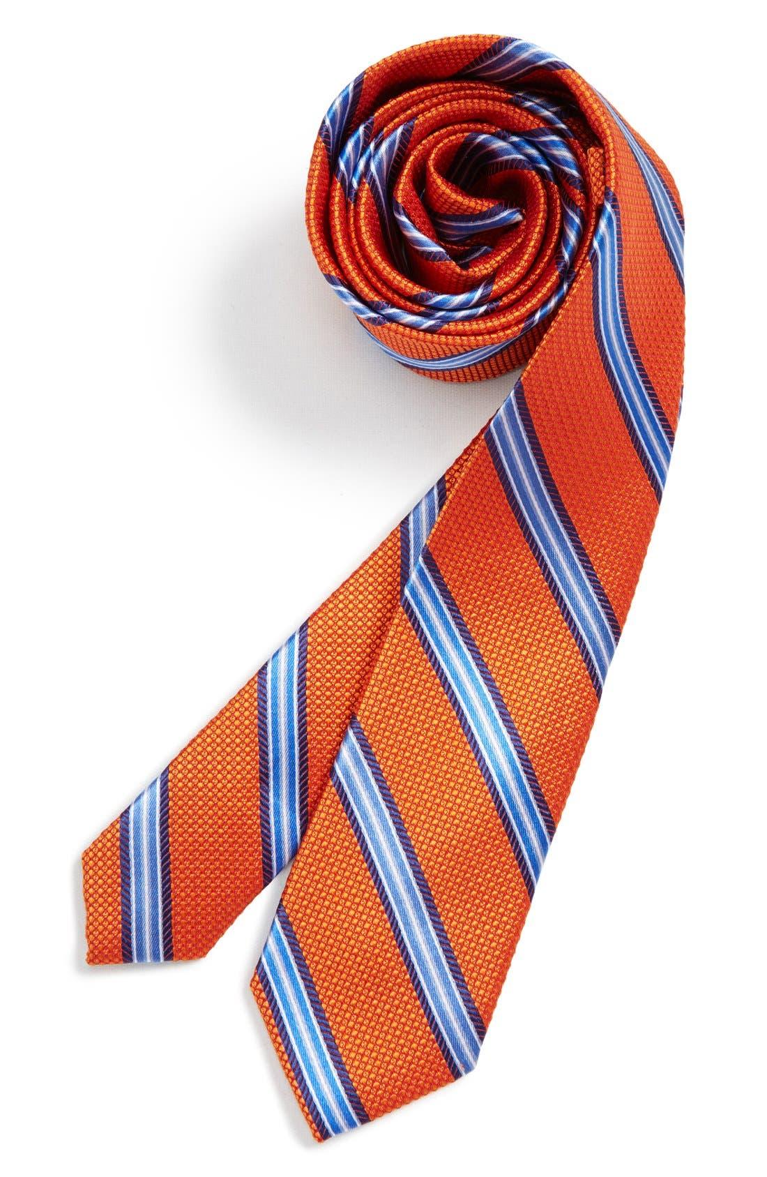Alternate Image 2  - Michael Kors Stripe Silk Tie (Big Boys)