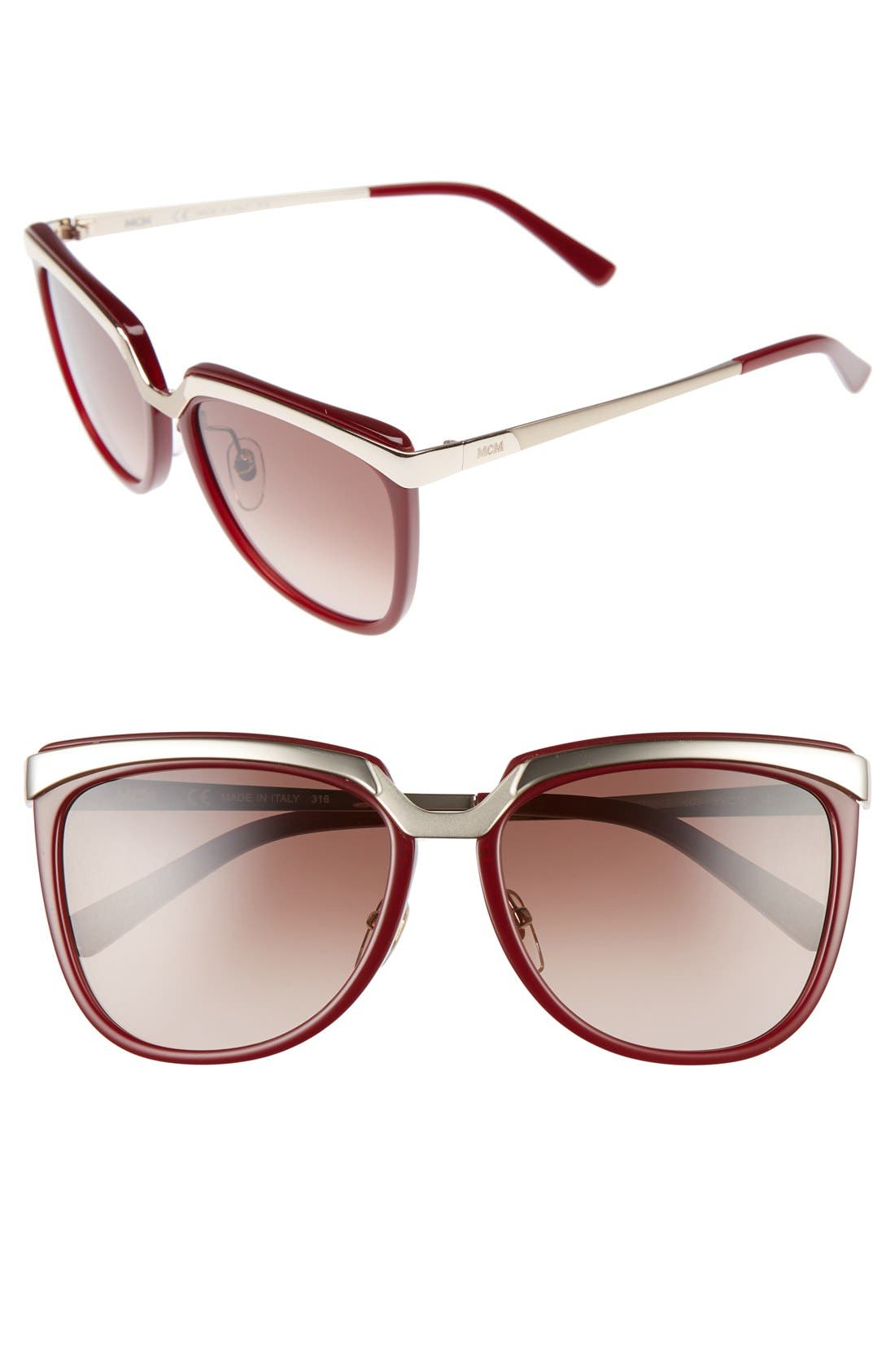 MCM Teacup 55mm Sunglasses