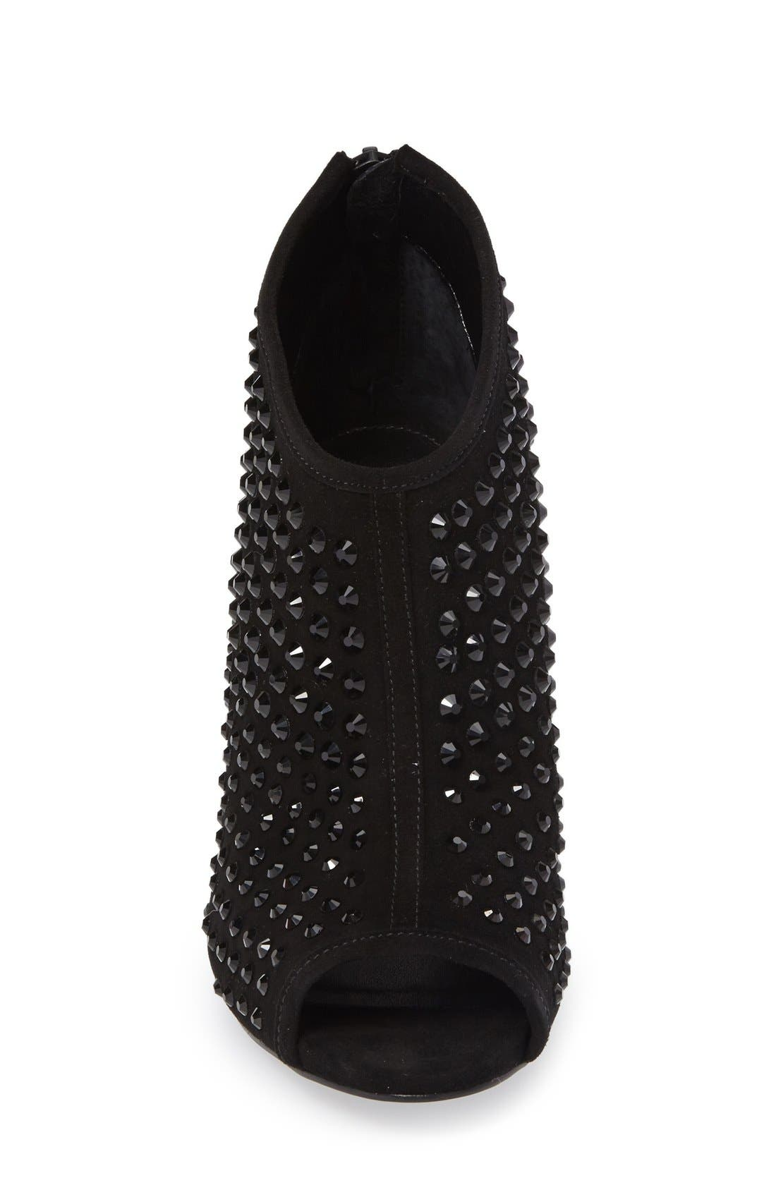 Alternate Image 3  - MICHAEL Michael Kors Dani Crystal Embellished Open Toe Bootie (Women)