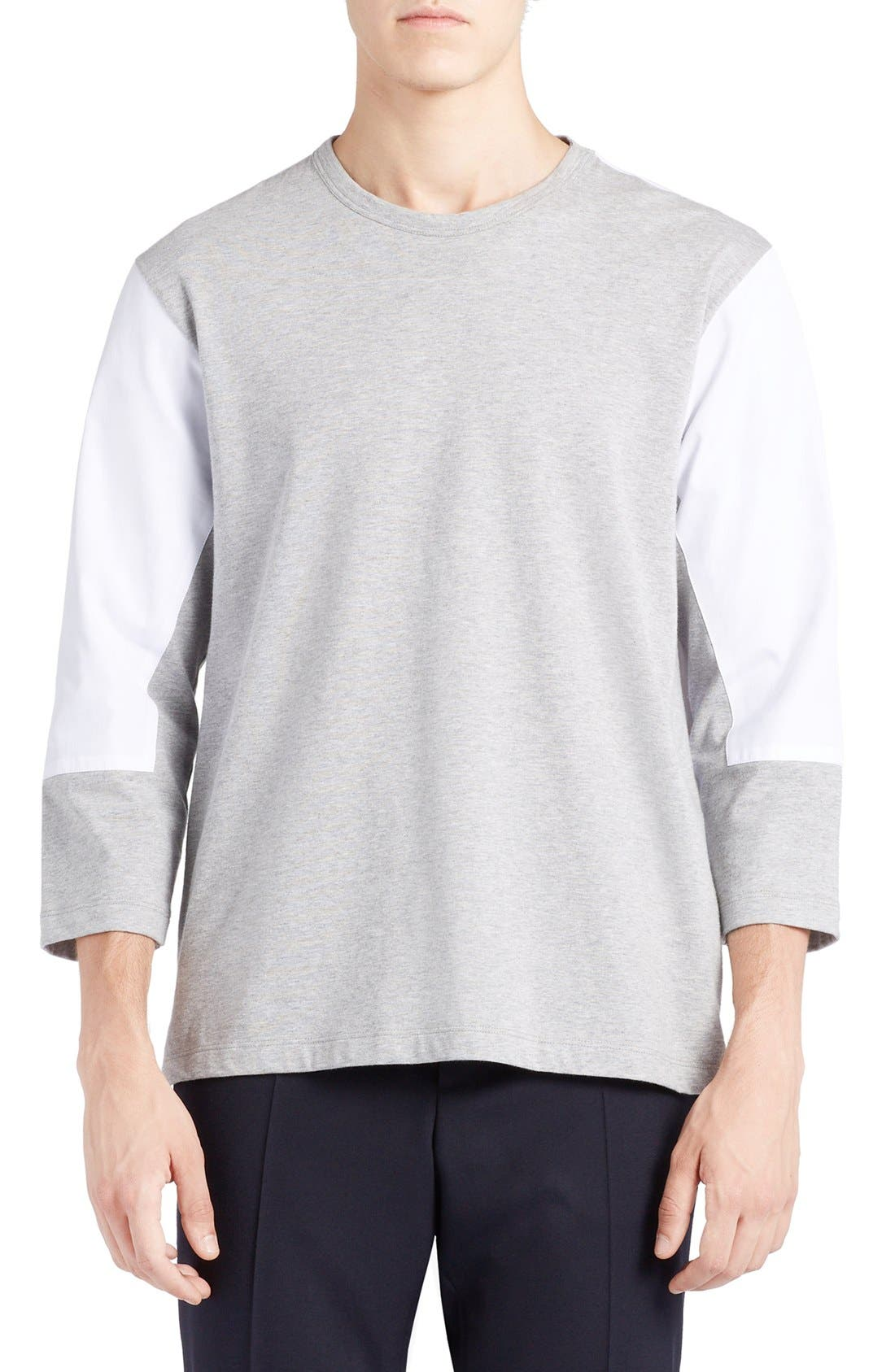 MARNI Mixed Media Colorblock T-Shirt