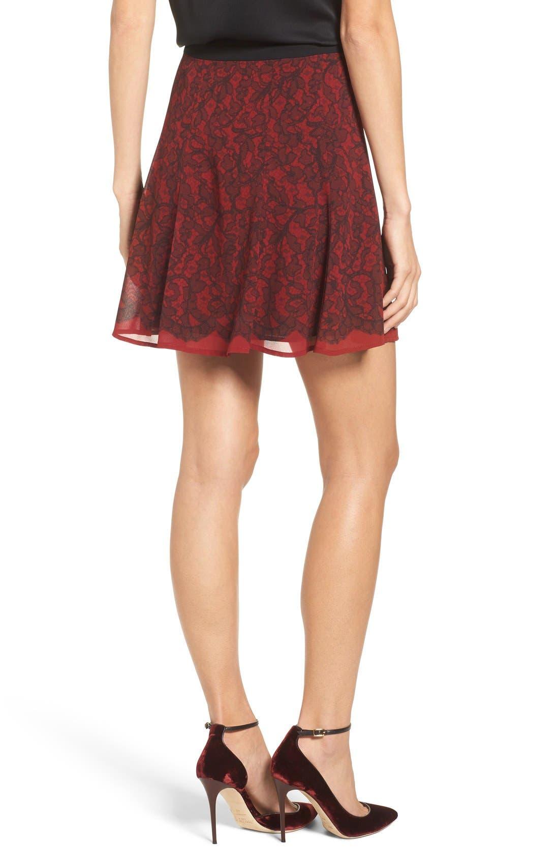 Alternate Image 2  - MICHAEL Michael Kors Umbria Lace Panel Flare Skirt