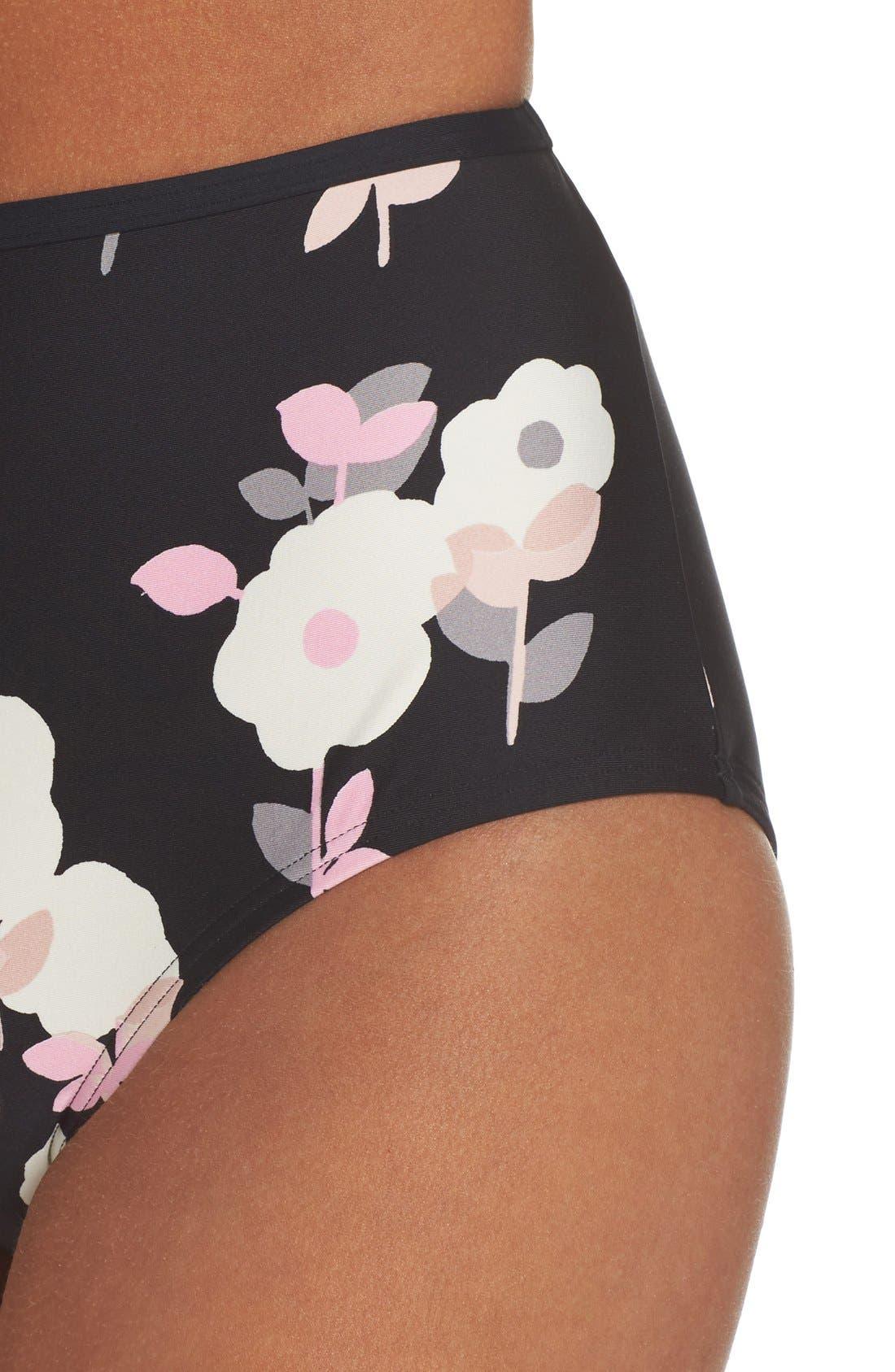 Alternate Image 4  - kate spade new york high waist bikini bottoms